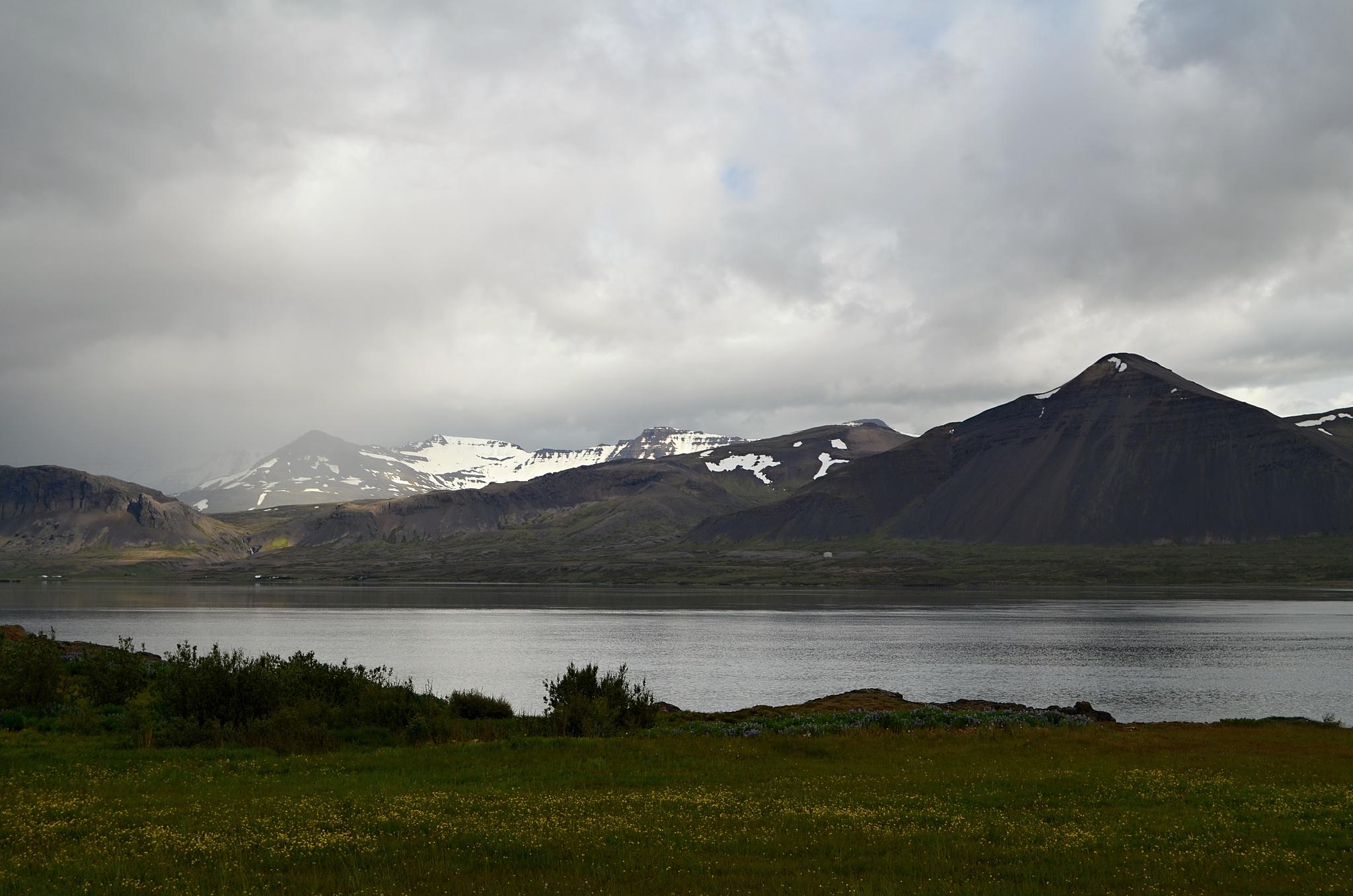 Výhled od penziónu Bjarg