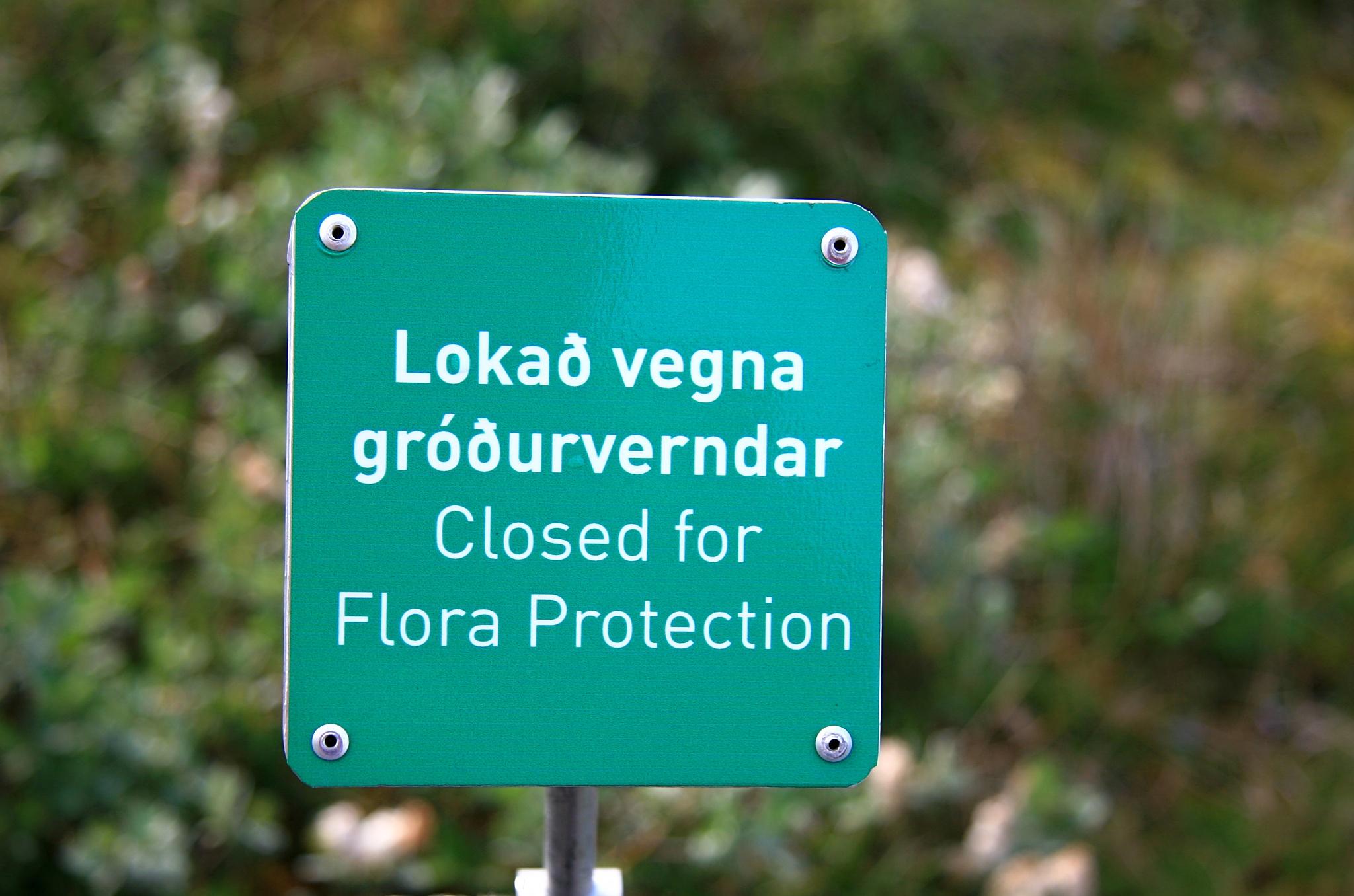 Zákaz vstupu, chráníme rostliny