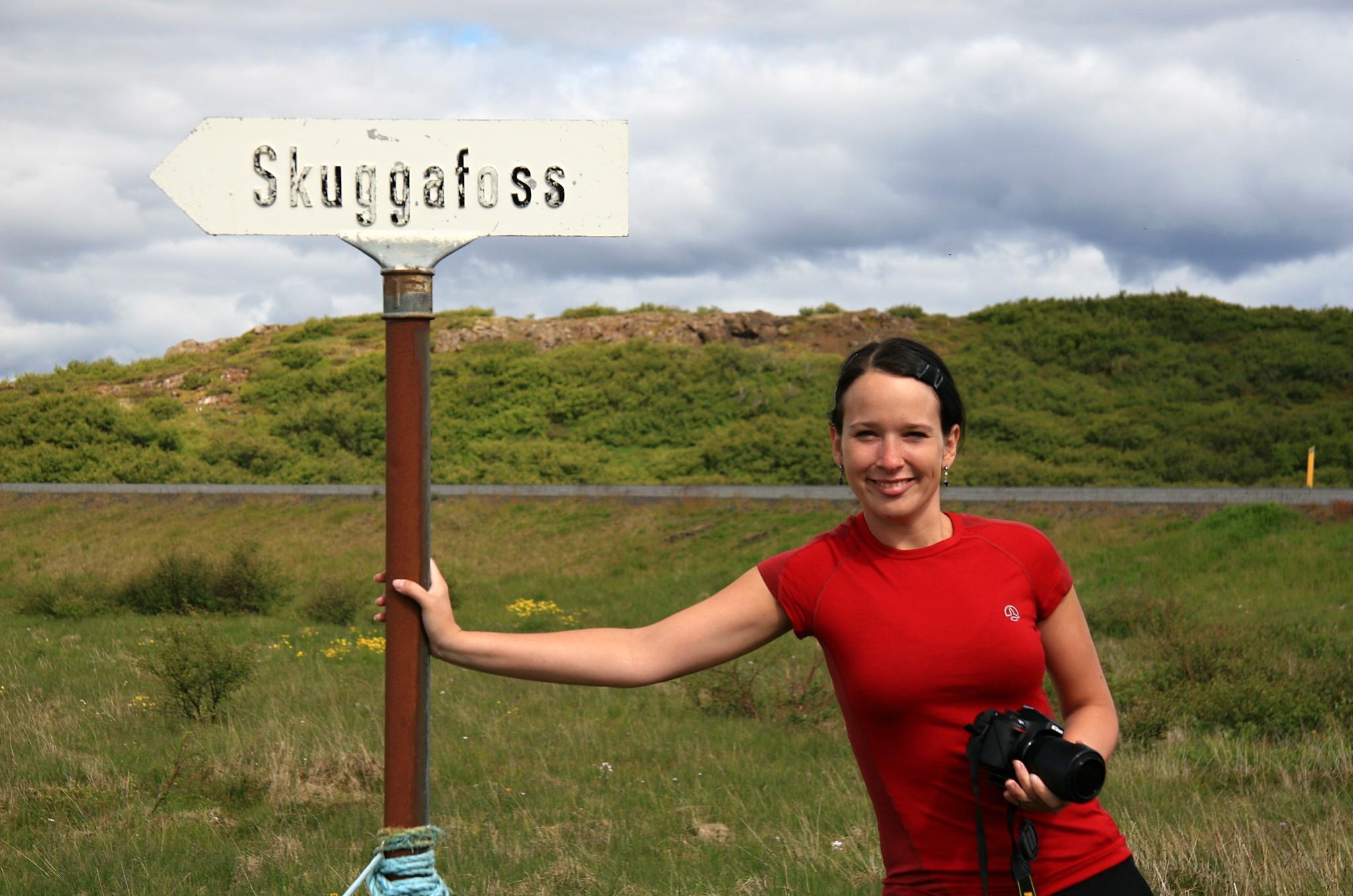 U vodopádu Skuggafoss