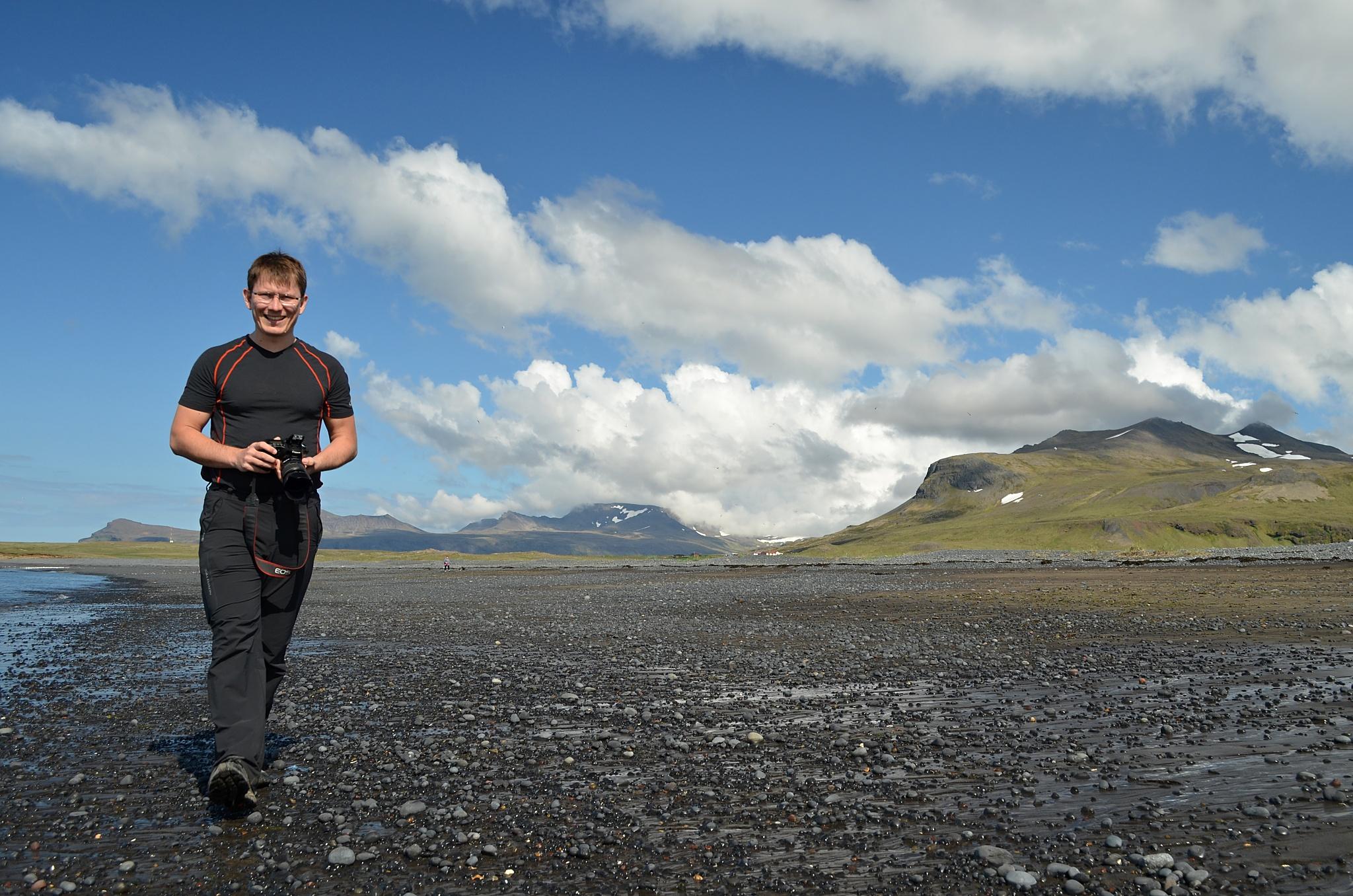 Moře kousek za přístavem Ólafsvík.