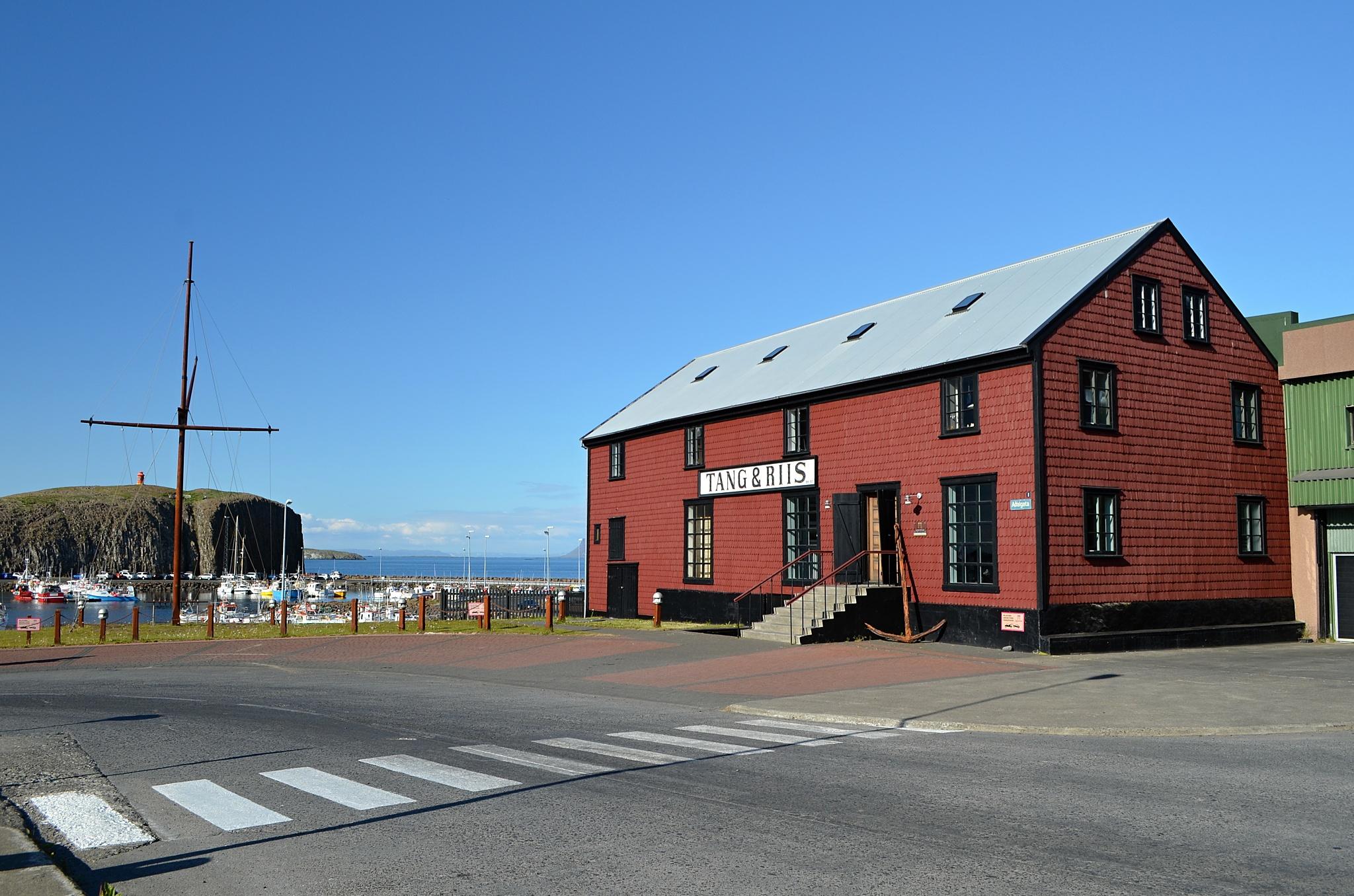 Obchod v přístavu Stykkishólmur.