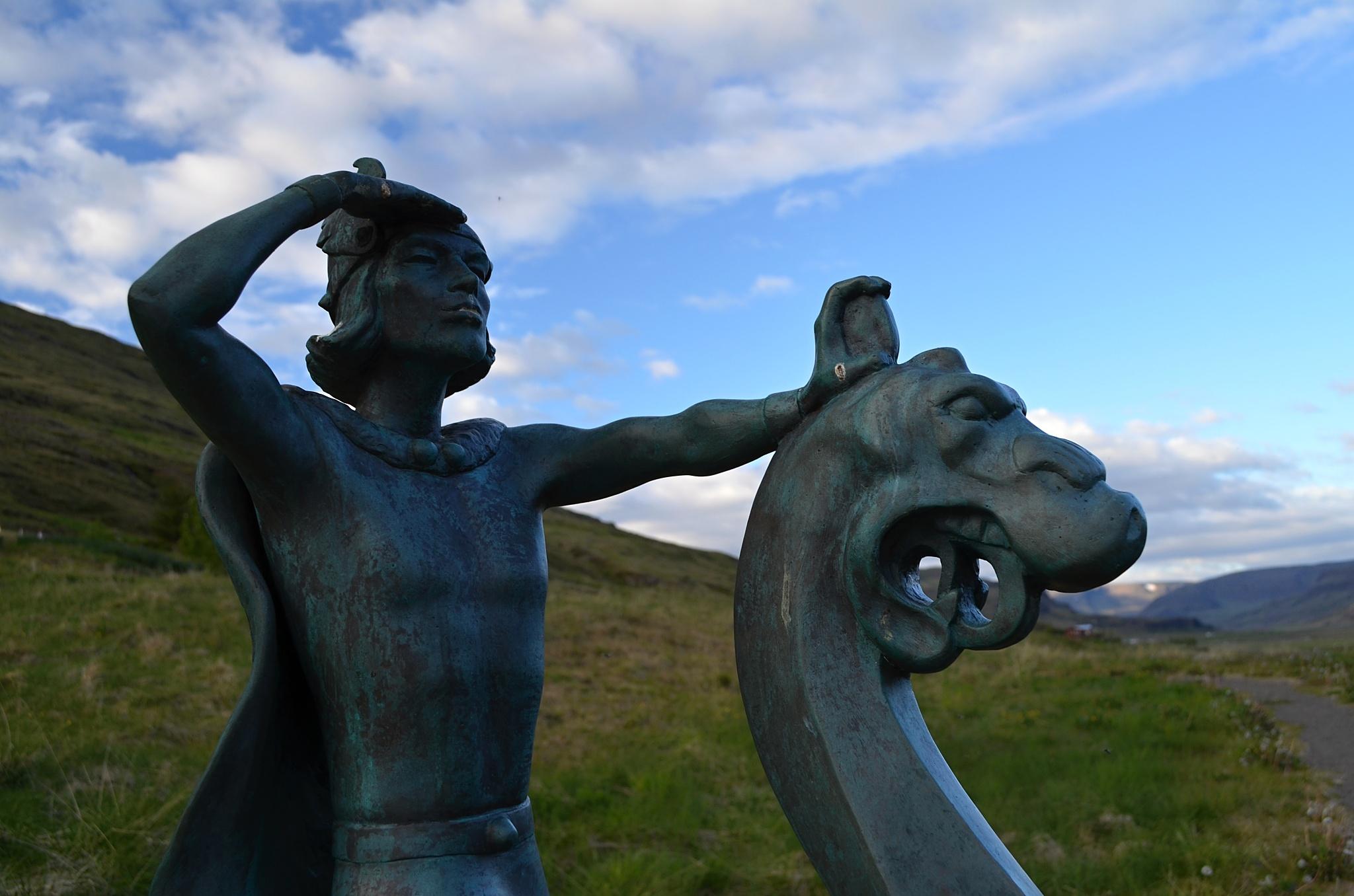 Místní hrdina Leifur Eiriksson.