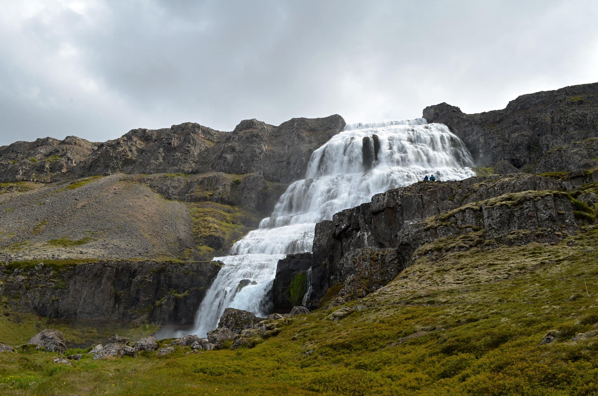 Vodopád Dynjandi v celé své kráse