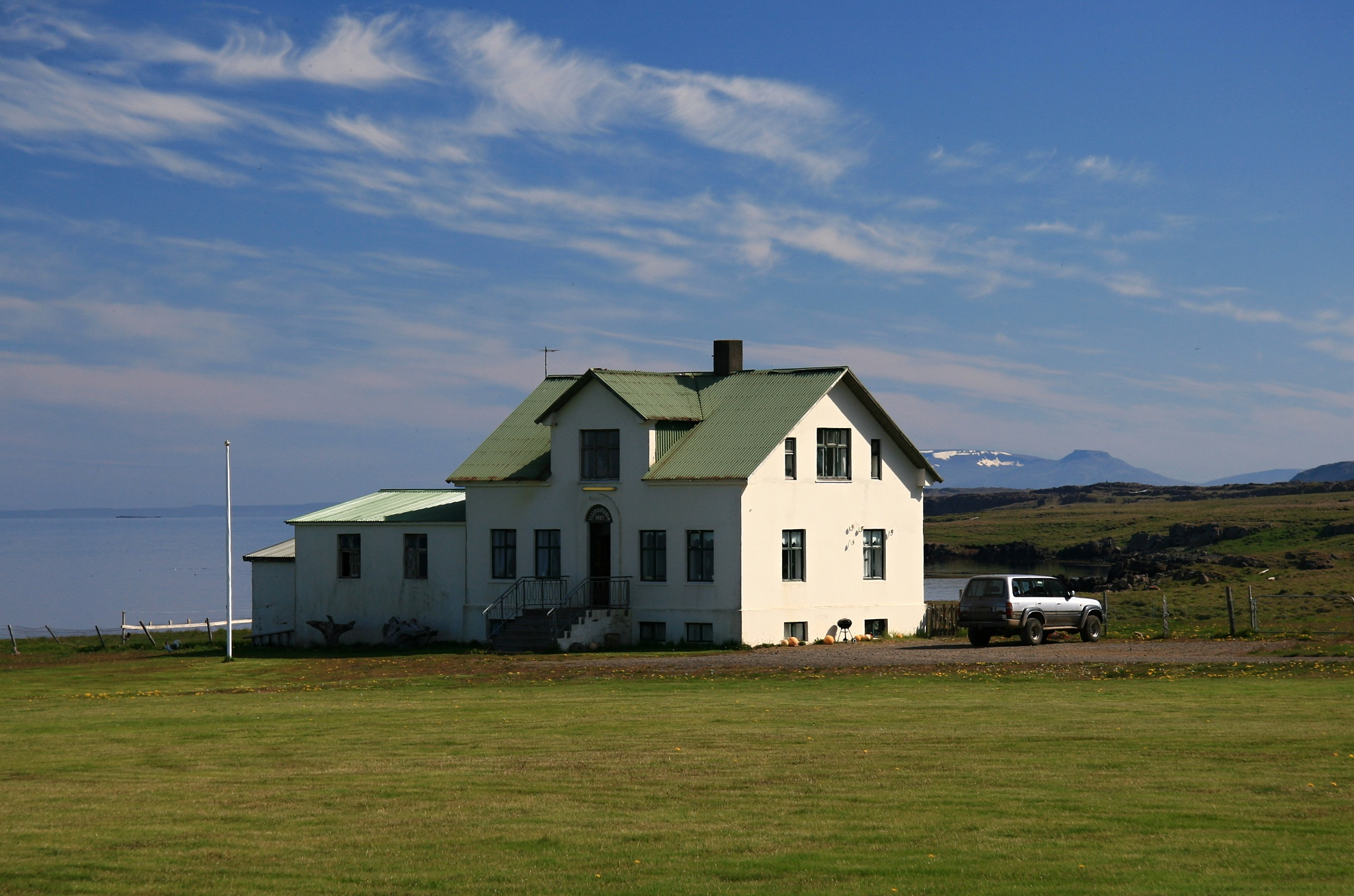 Stará usedlost Illugastadir na poloostrově Vatnsnes poblíž vesnice Hvammstangi
