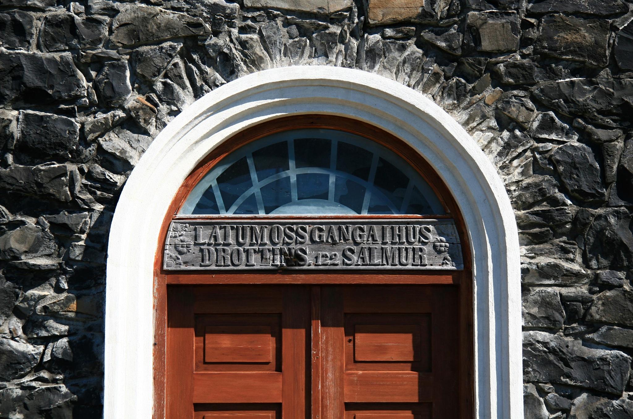 Dveře do kostela Þingeyrakirkja