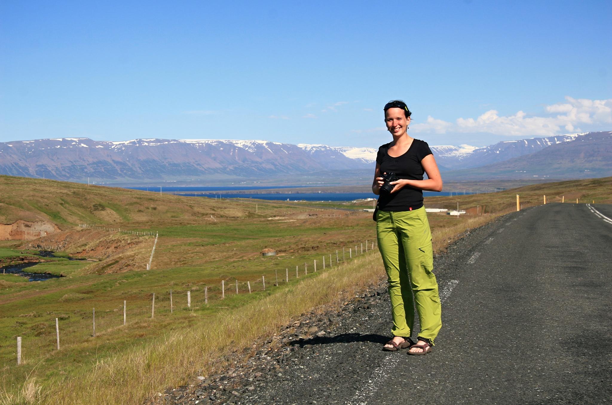 Na cestě k městečku Sauðárkrókur