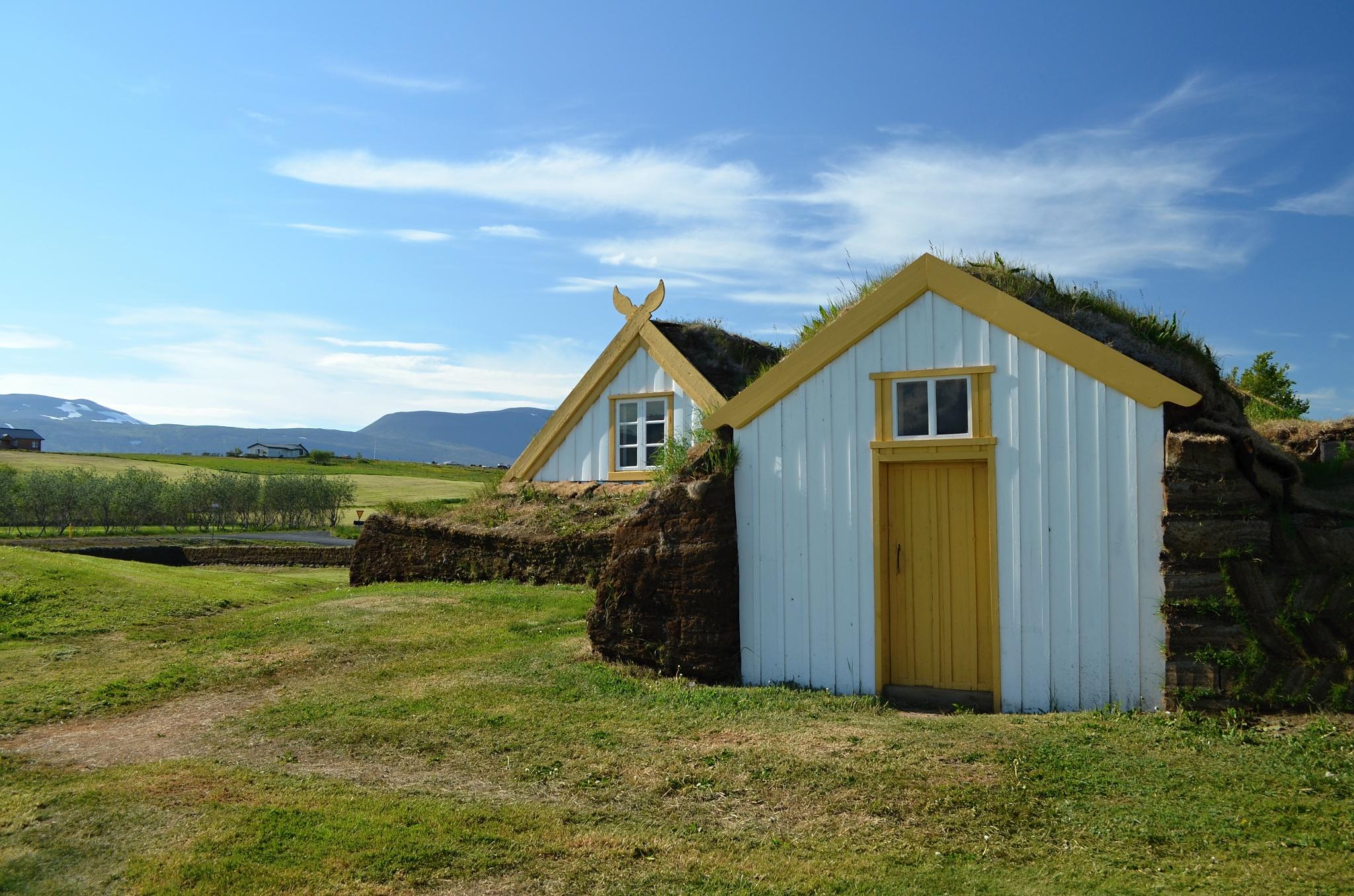 Stará farma z 19. století Glaumbær