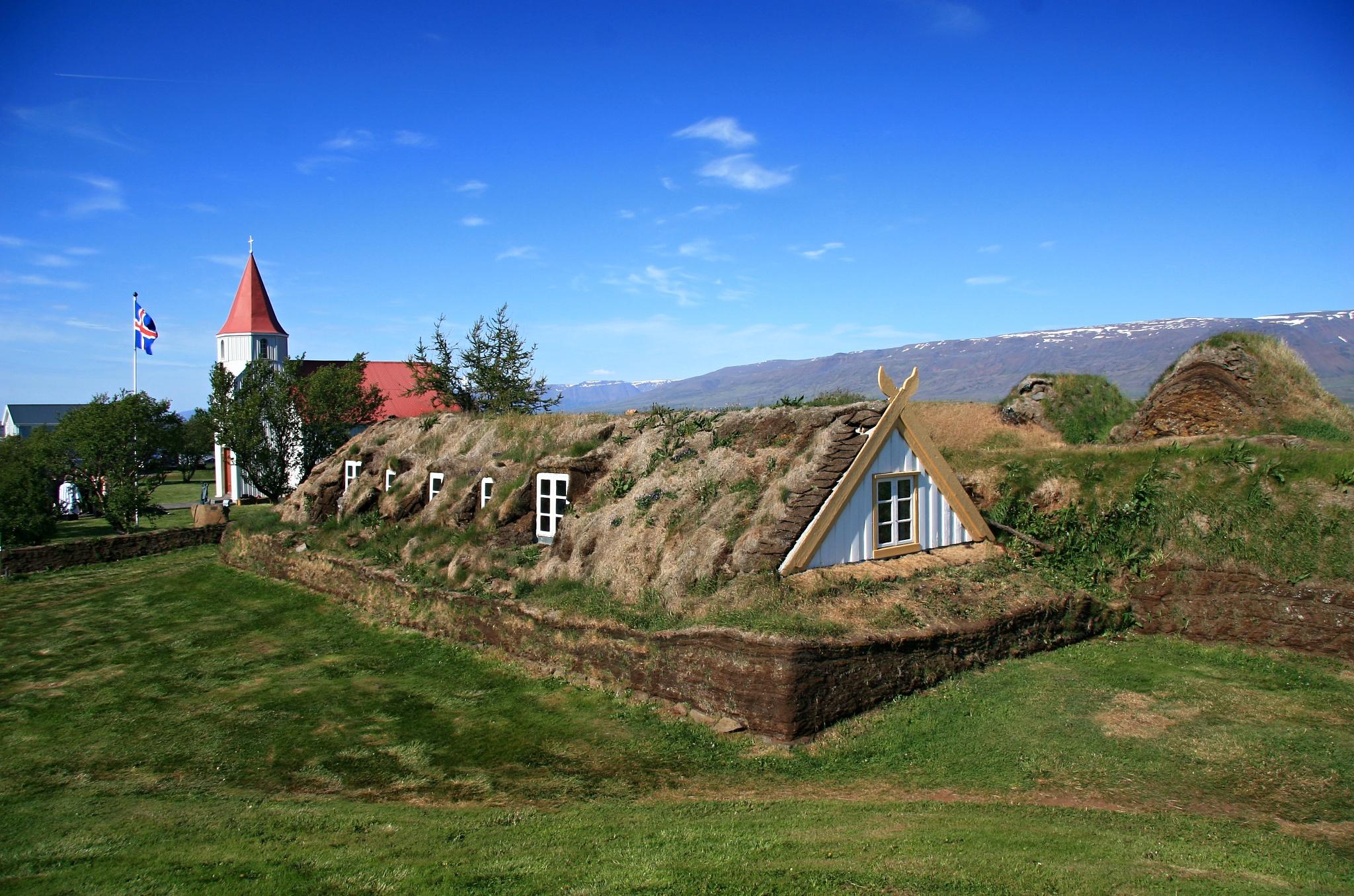 Starodávná farma a muzeum Glaumbær