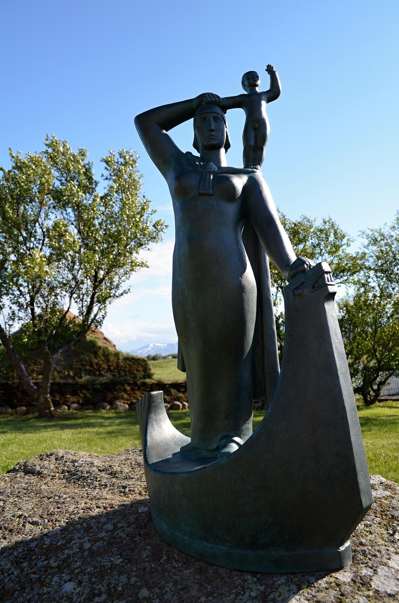 Sousoší Snorriho a jeho matky