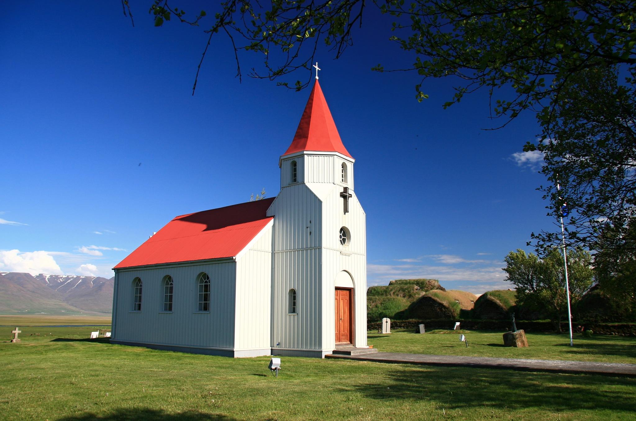 Kostel v Glaumbær z roku 1925