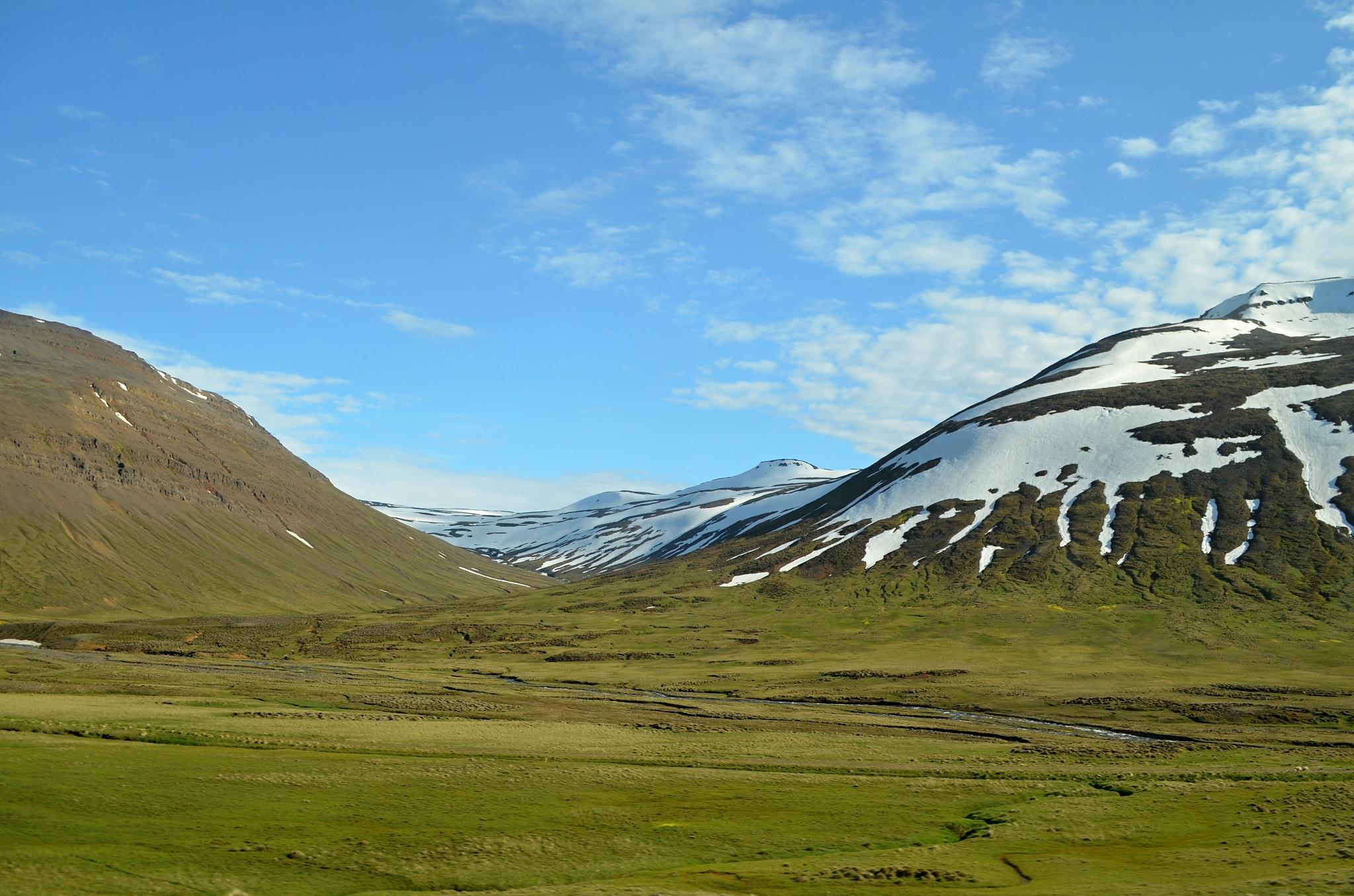 Hory na cestě do Akureyri