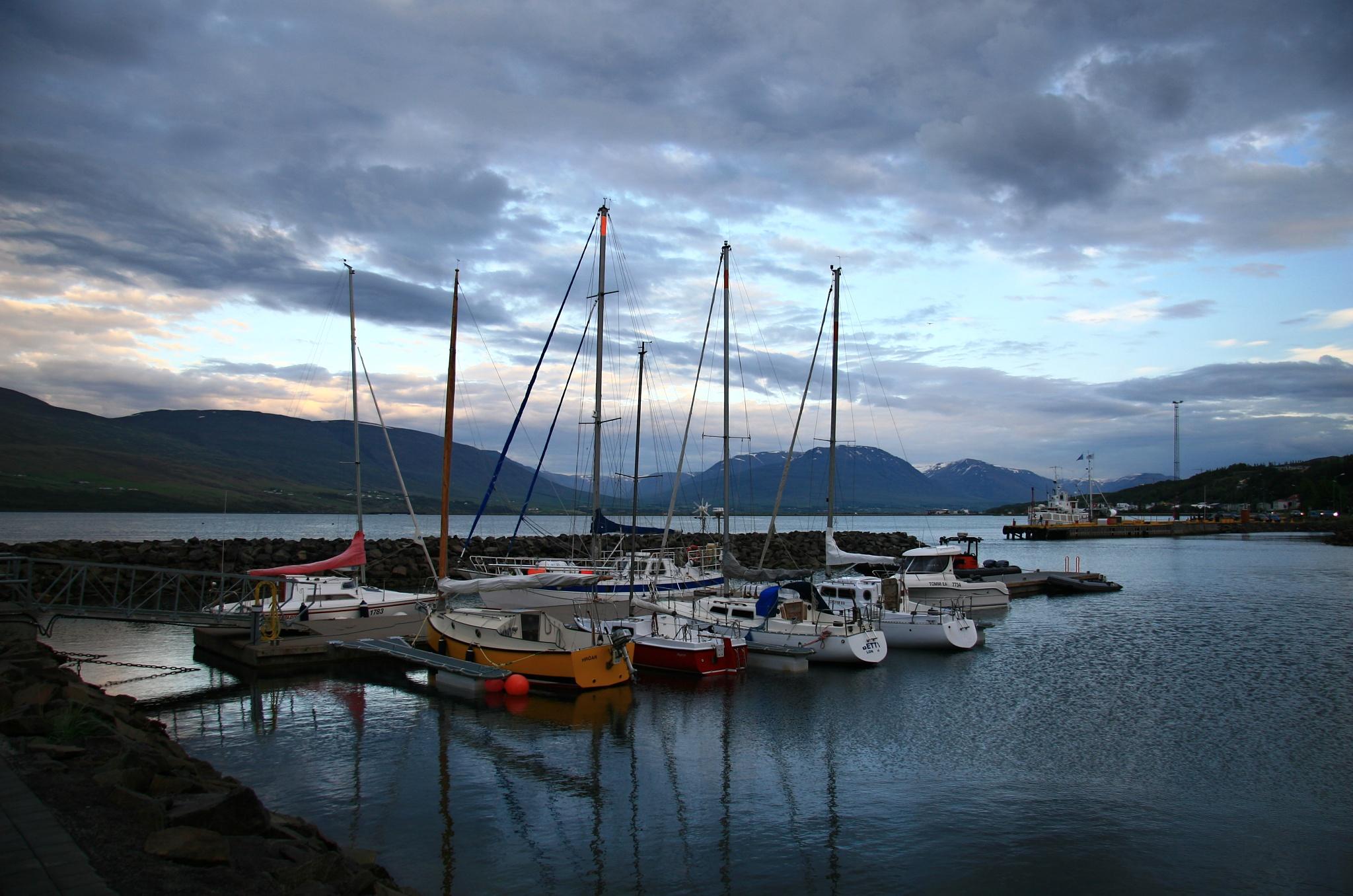 Přístavní molo v Akureyri