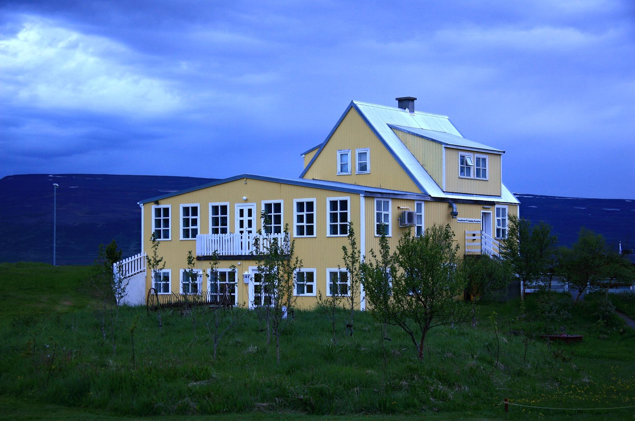 Hlavní budova kempu Fosshóll