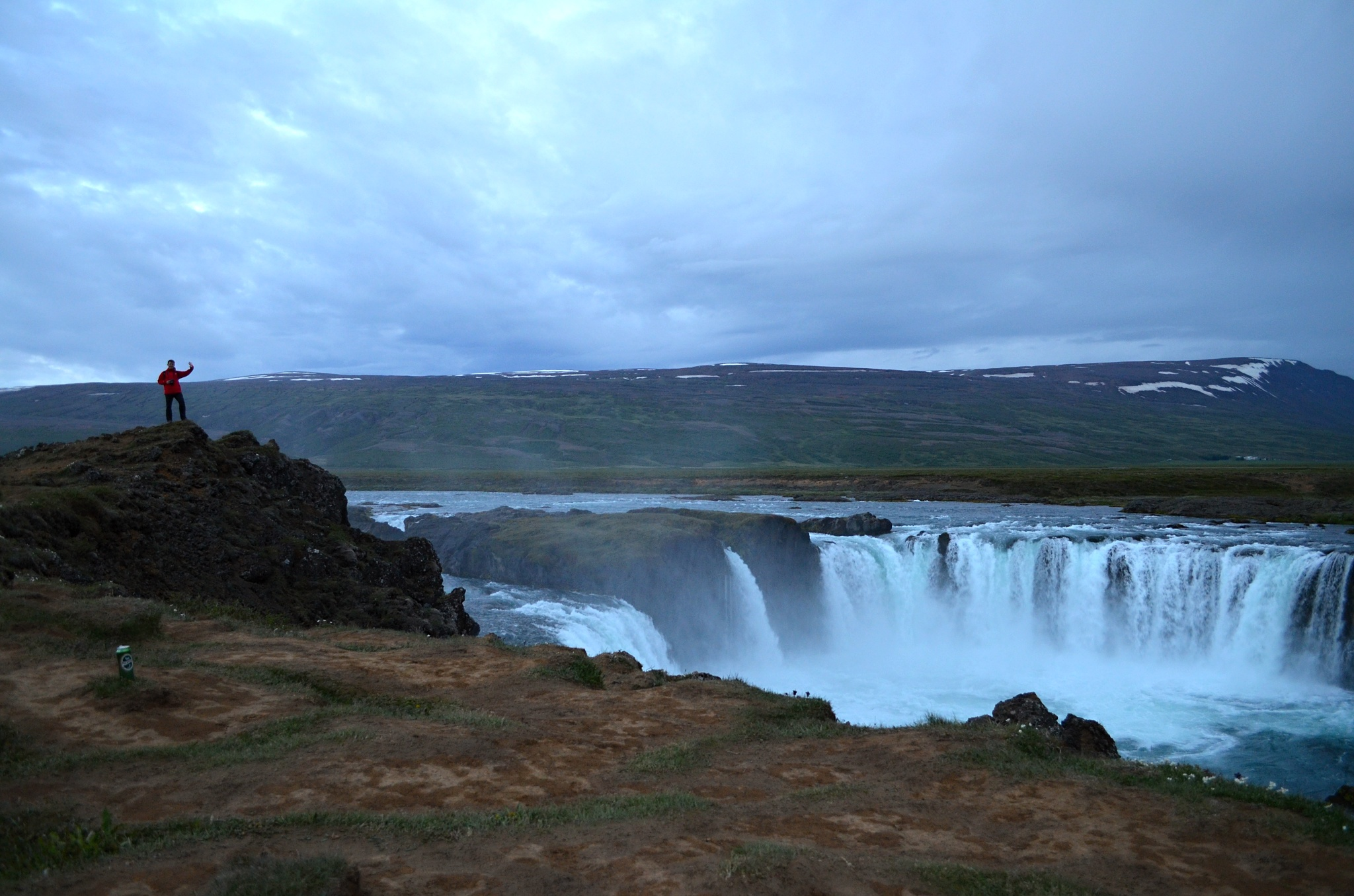 Vodopád Goðafoss je vážně obrovský