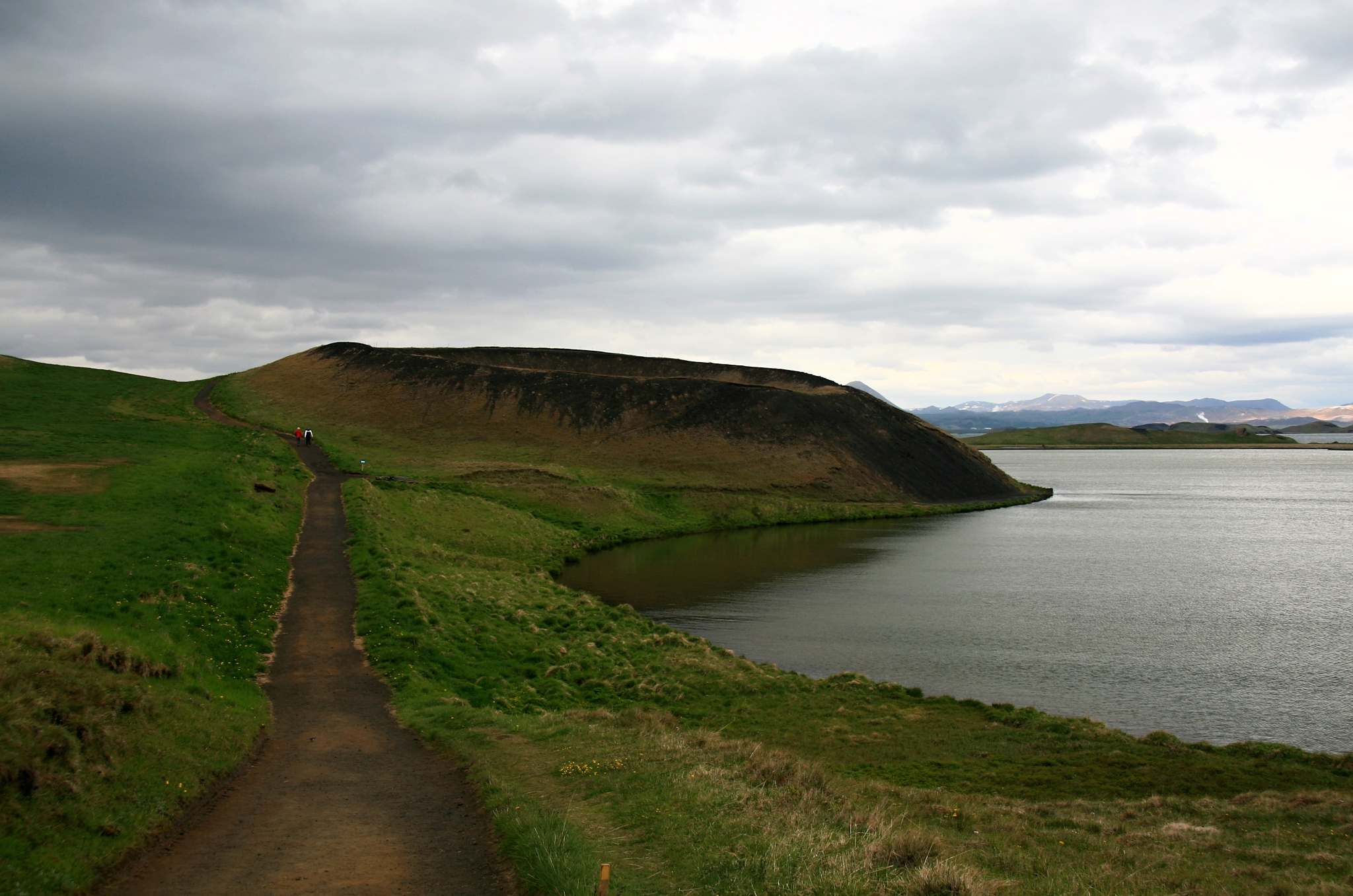 Pseudokráter u jezera Mývatnu