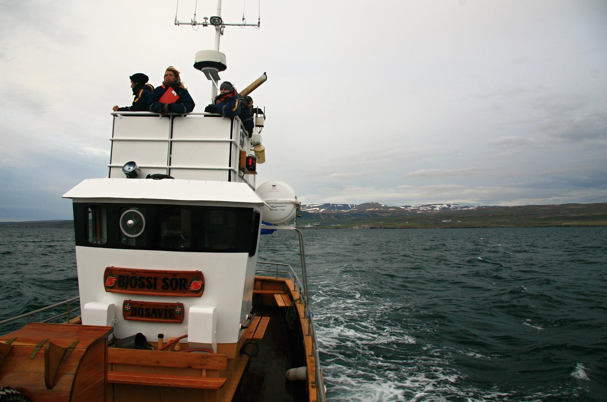 Kapitánský můstek na lodi Bjössi Sör