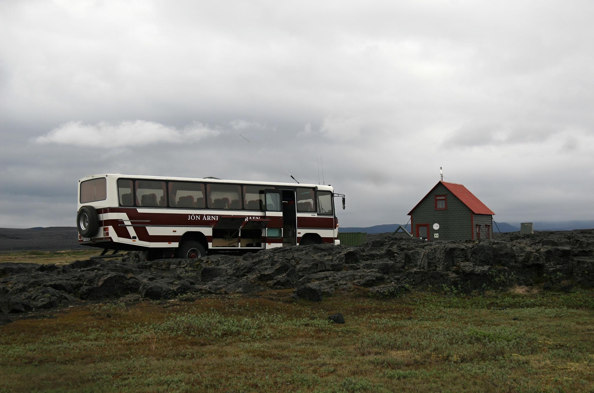 Další zastávka u chaty Herðubreiðarlindir