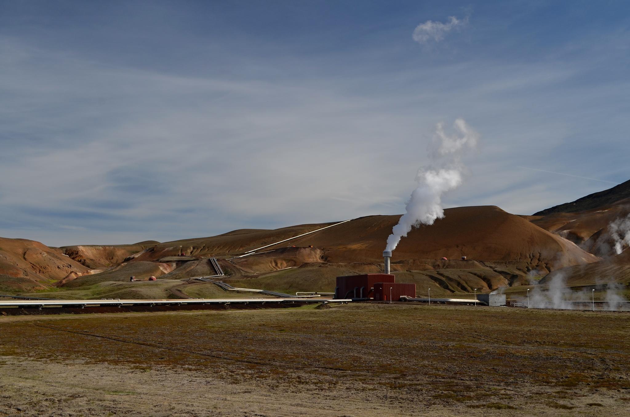 Geotermální elektrárna na Krafle