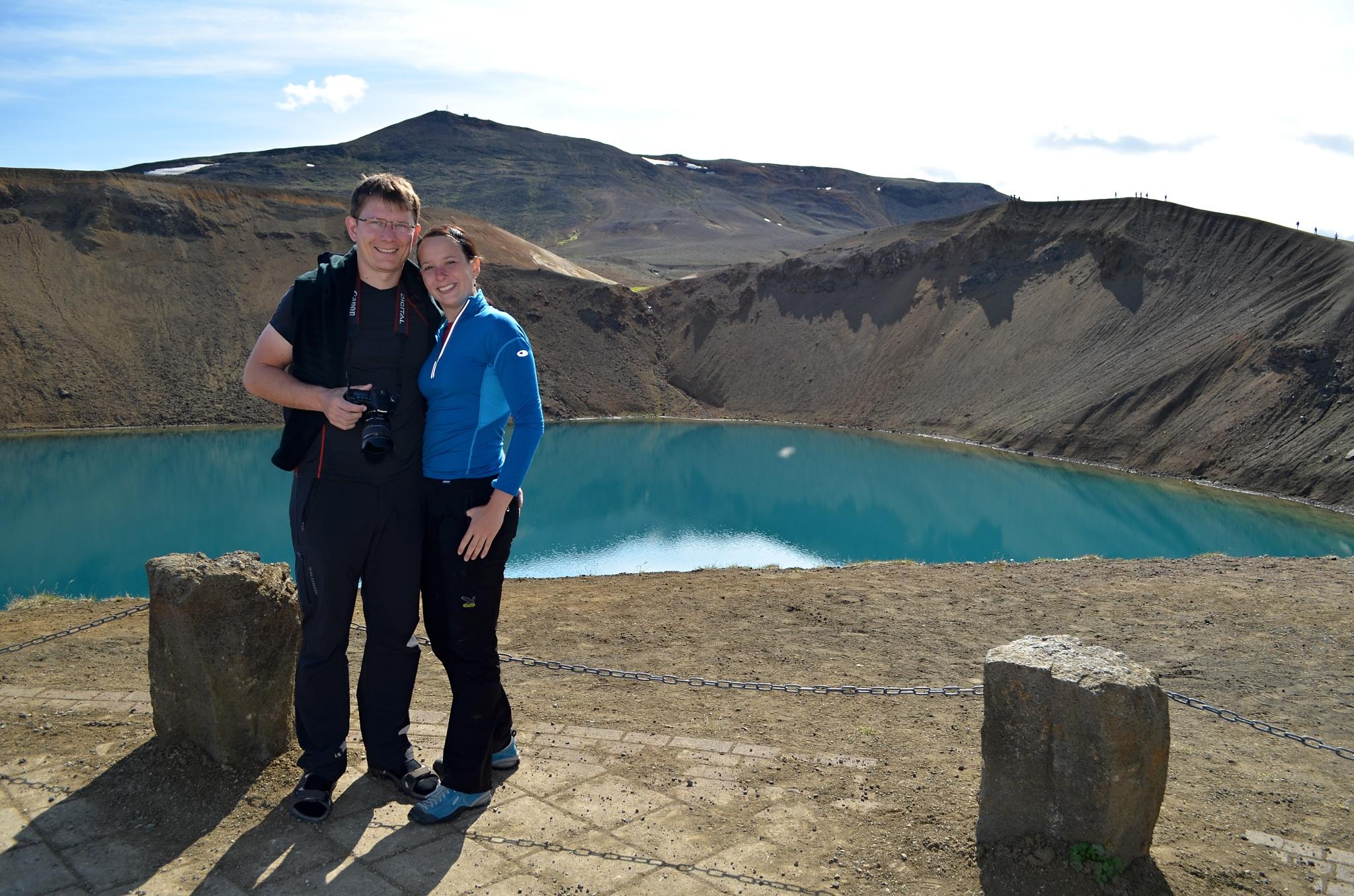 Společná fotka u jezera Víti