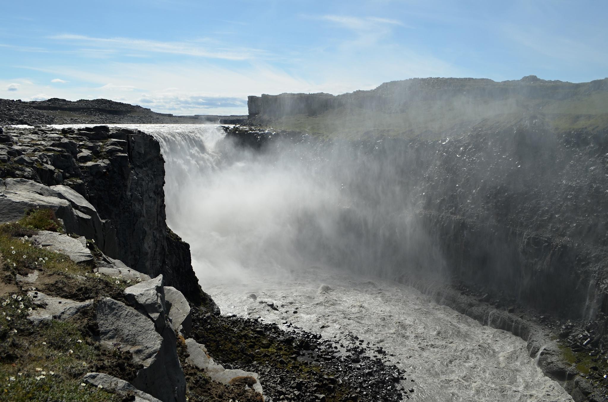 Obrovský vodopád Dettifoss