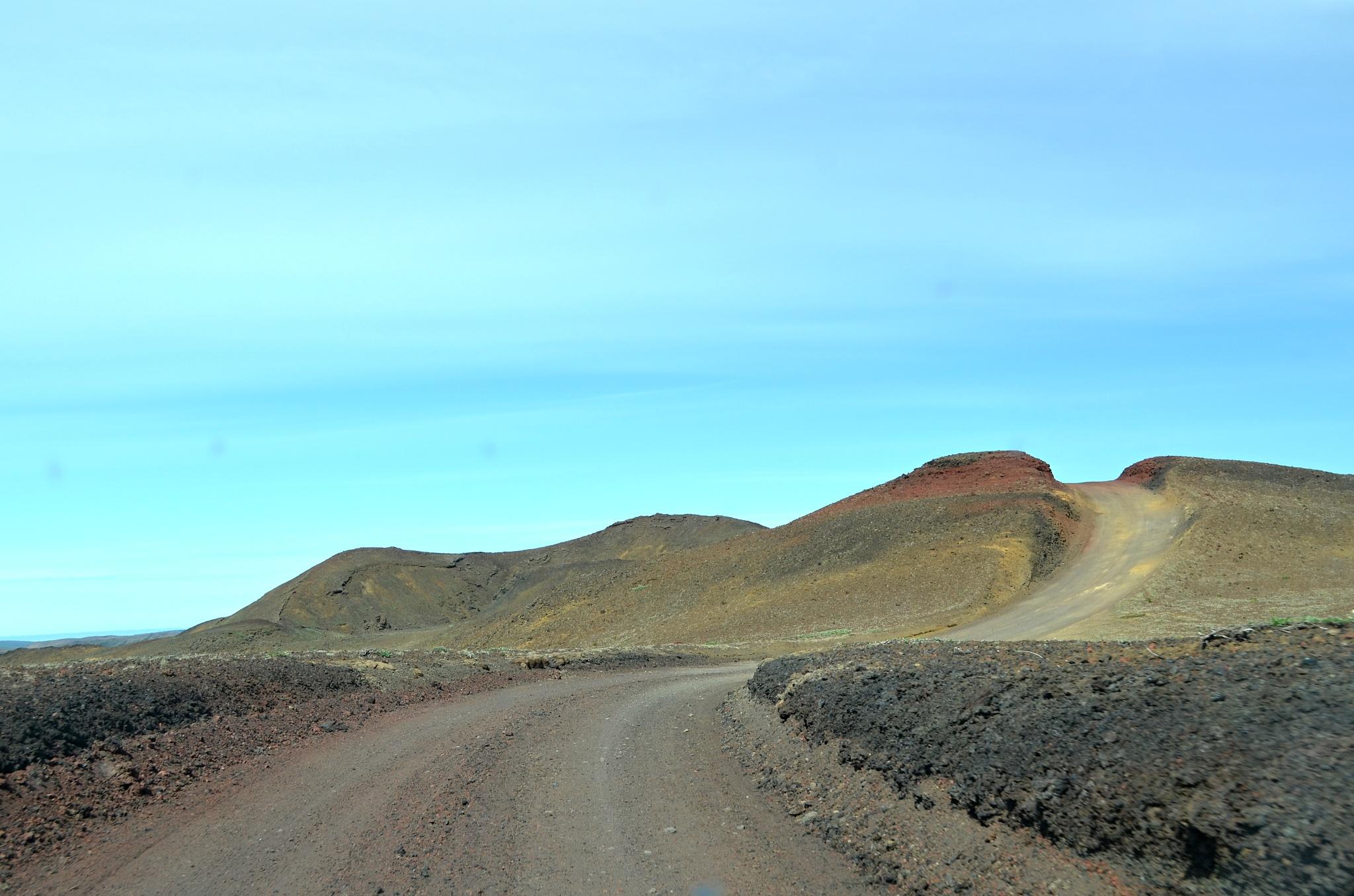 Příjezdová cesta k vodopádu Hafragilsfoss