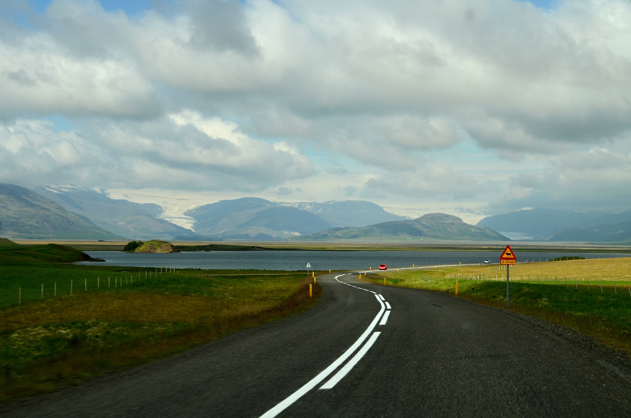 Ledovec Vatnajökull na dohled