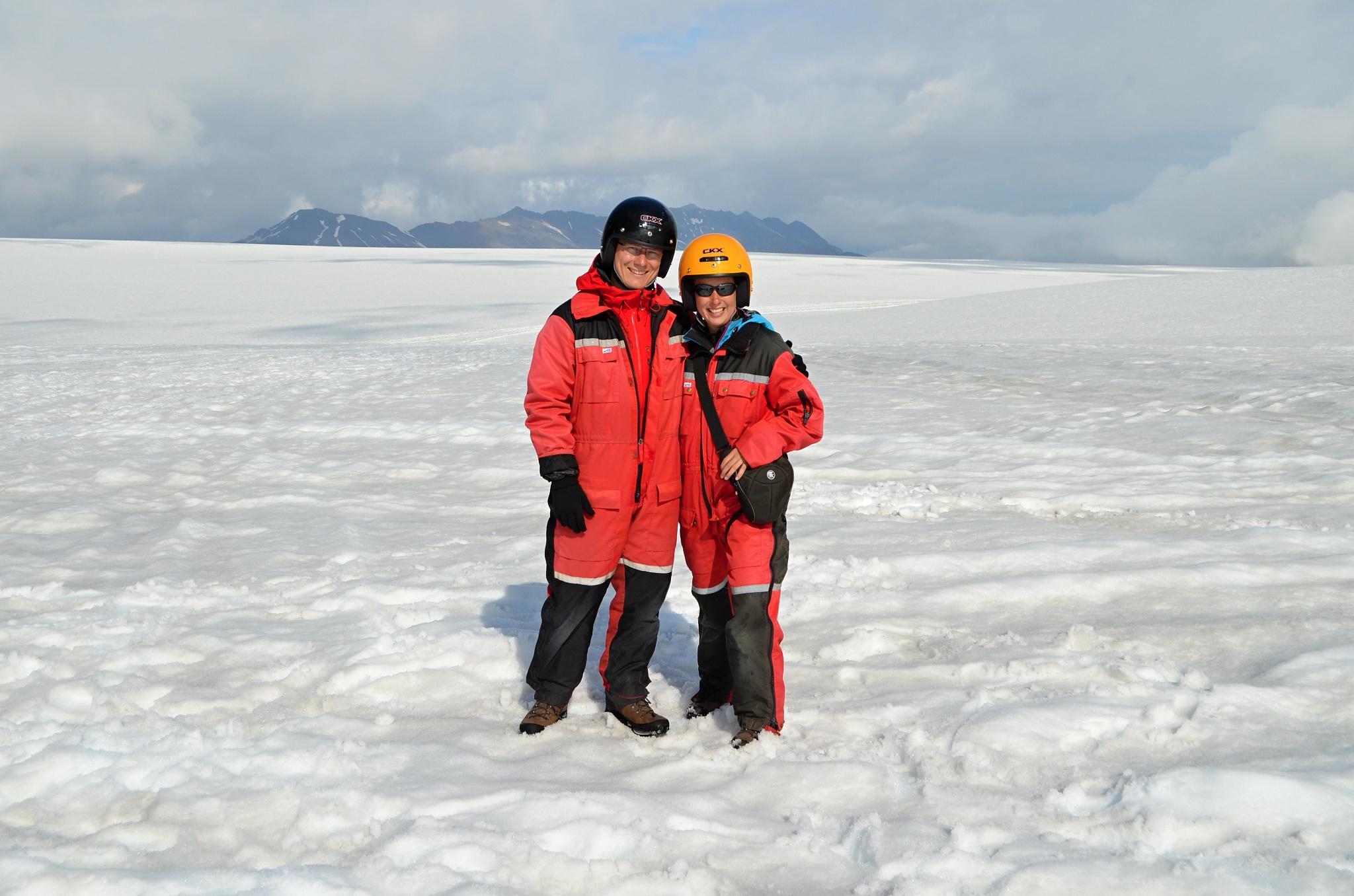 Společná fotka na ledovci Vatnajökull