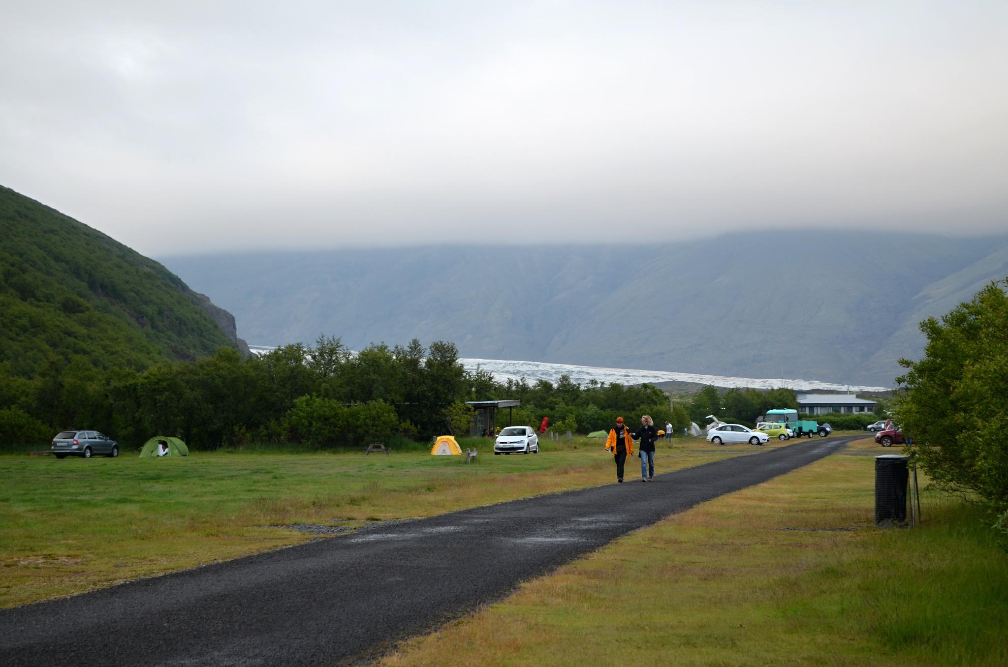V kempu Skaftafell přímo v národním parku Vatnajökull