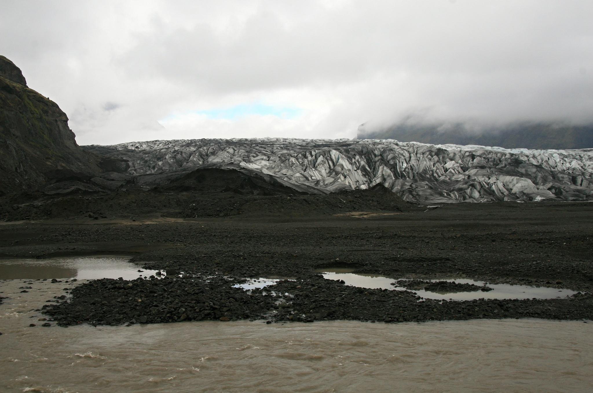 Splazu ledovce Skaftafellsjökull