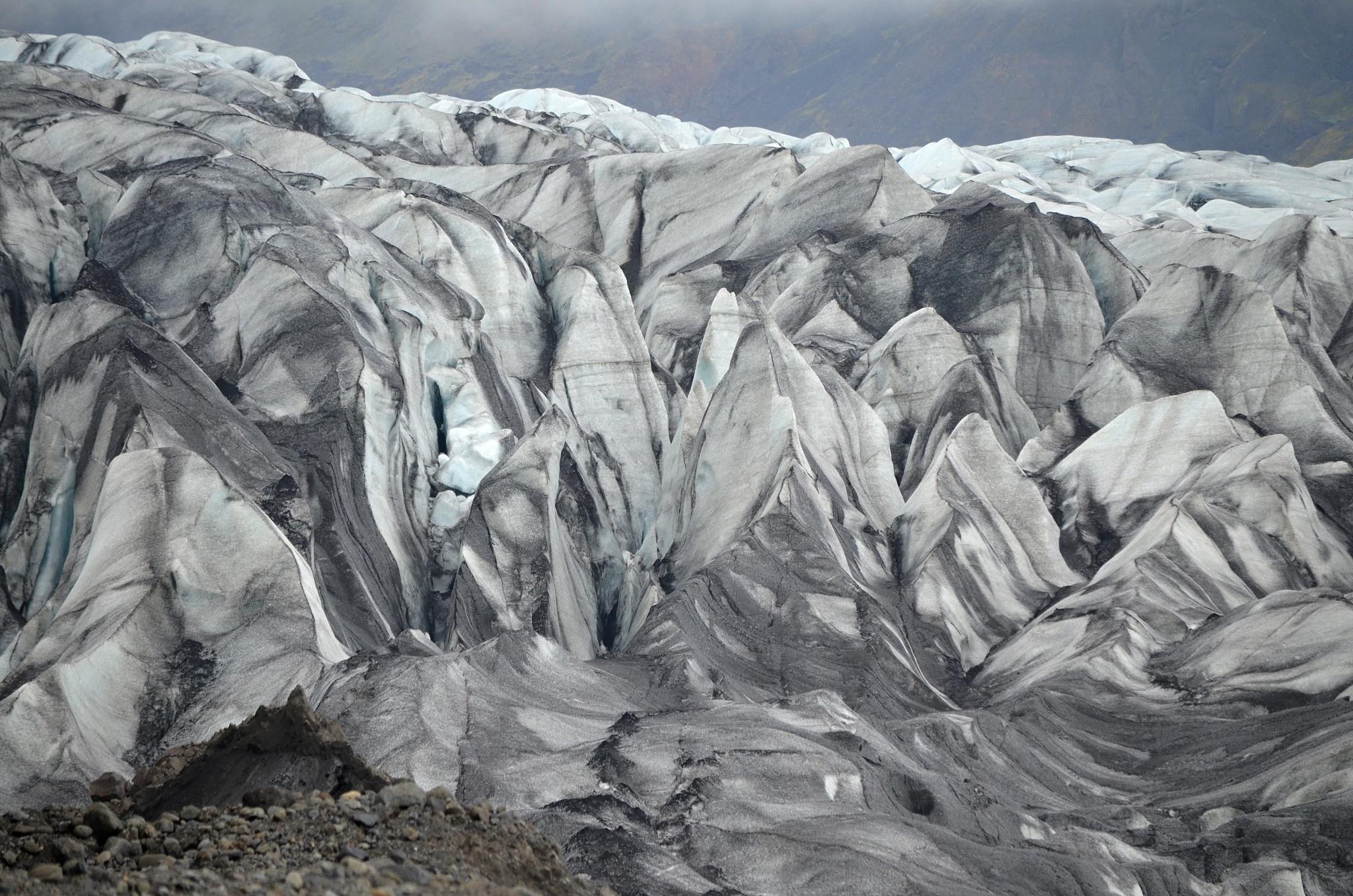 Zvrásněné čelo ledovcového splazu
