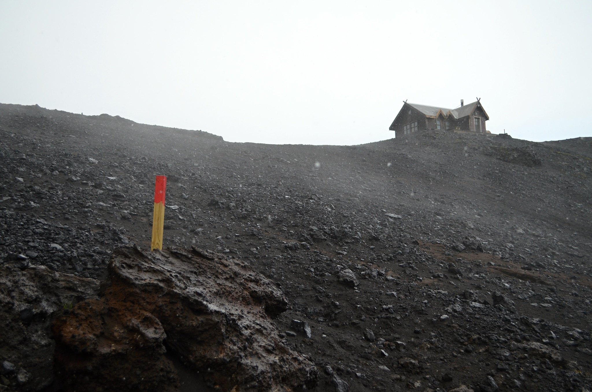 Chata Fimmvörðuskáli, místo pro znavené poutníky