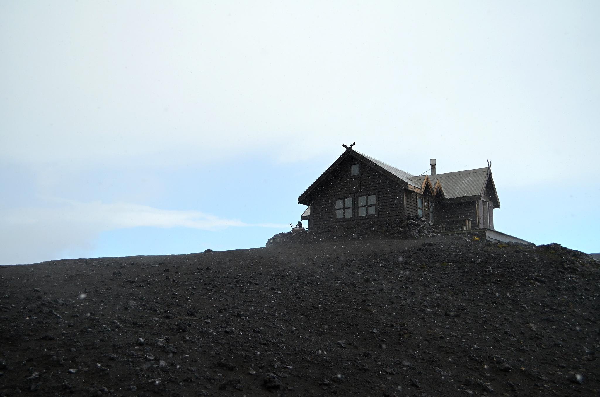 K chatě Fimmvörðuskáli je to už jen kousíček