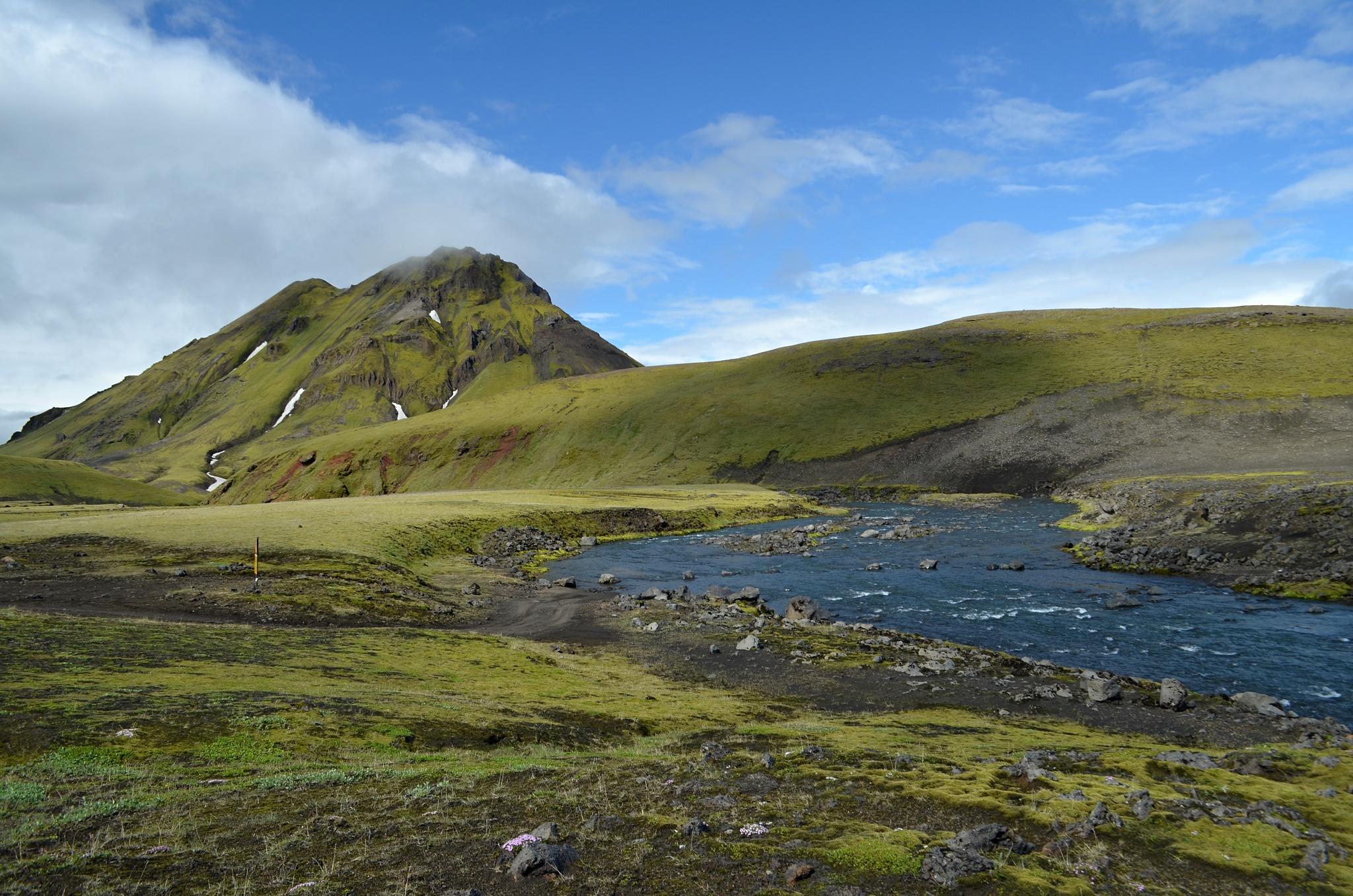 Krásná scenérie u řeky Kaldaklofskvísl