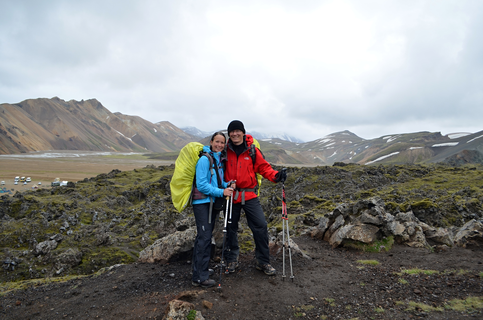 Společné foto na hranici Landmannalaugaru