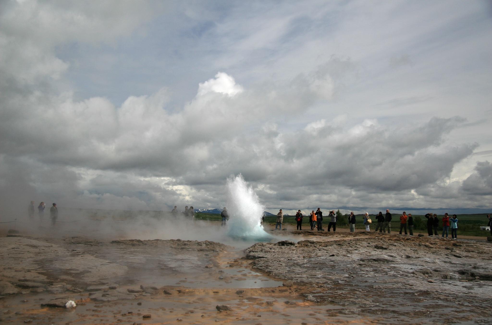 Erupce gejzíru Strokkur