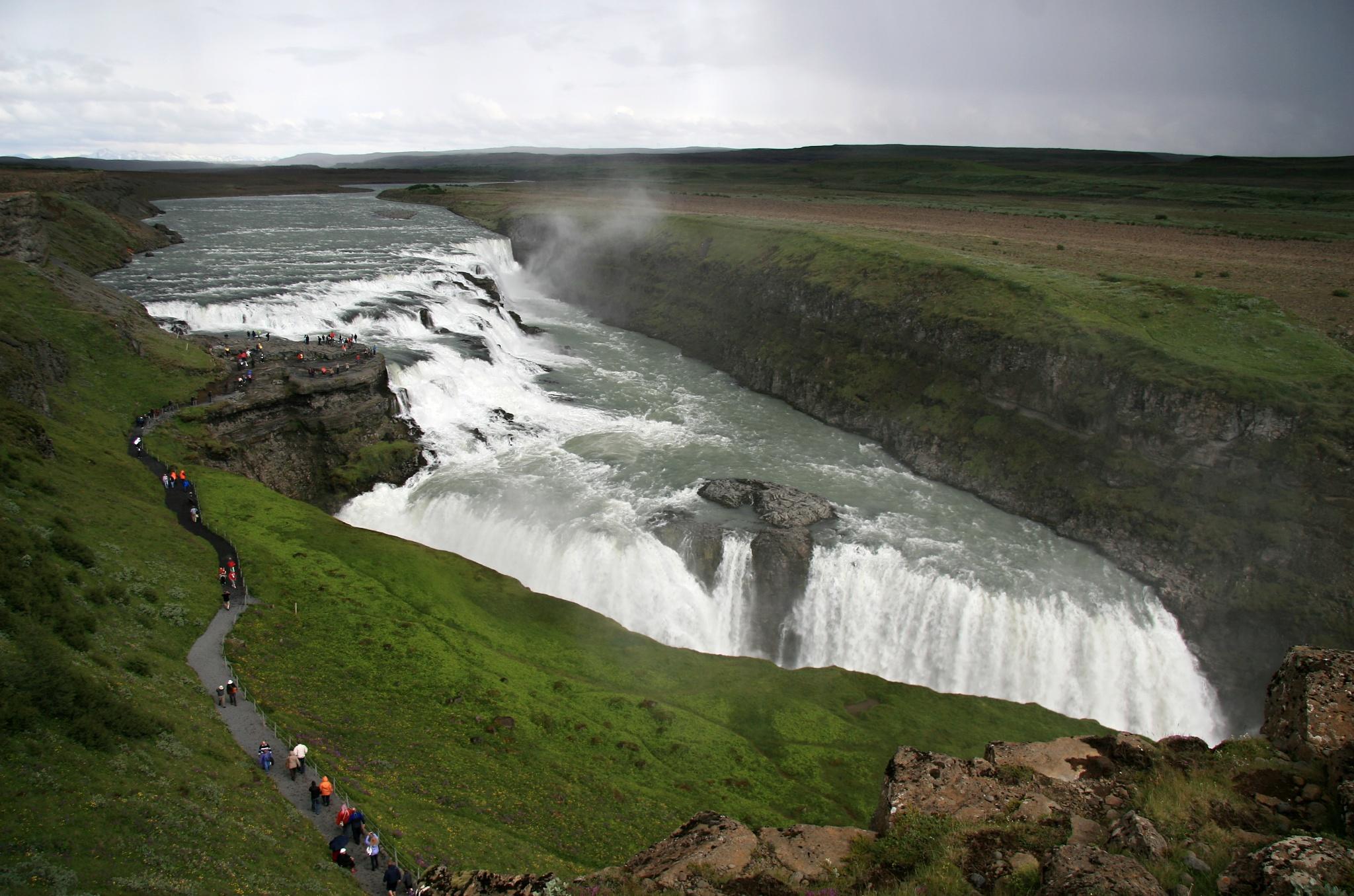 Vodopád Gullfoss na řece Hvítá