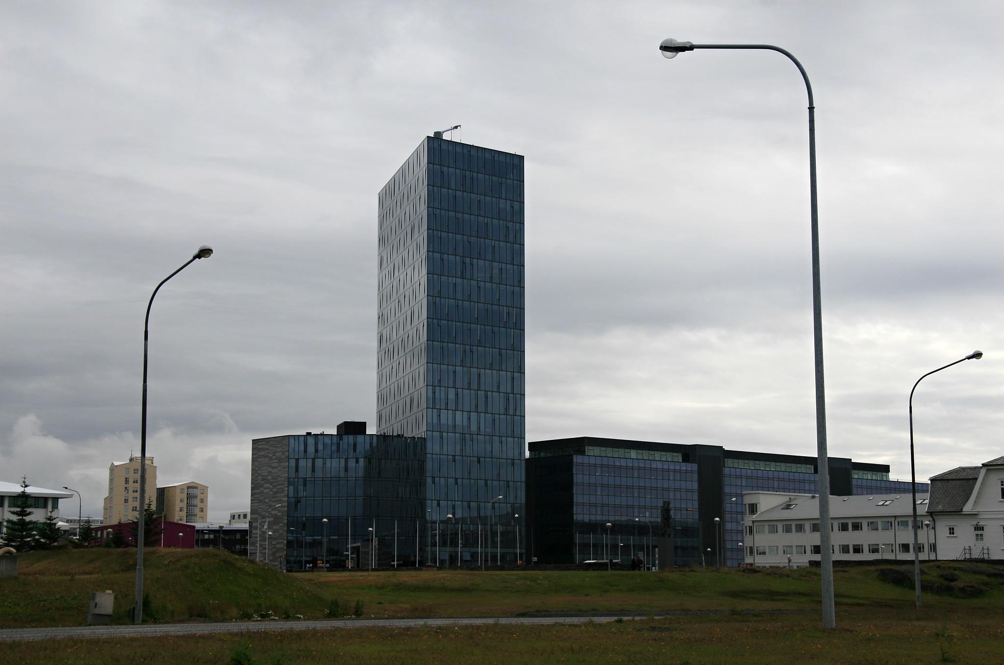 Administrativní centrum Reykjavíku na pobřeží