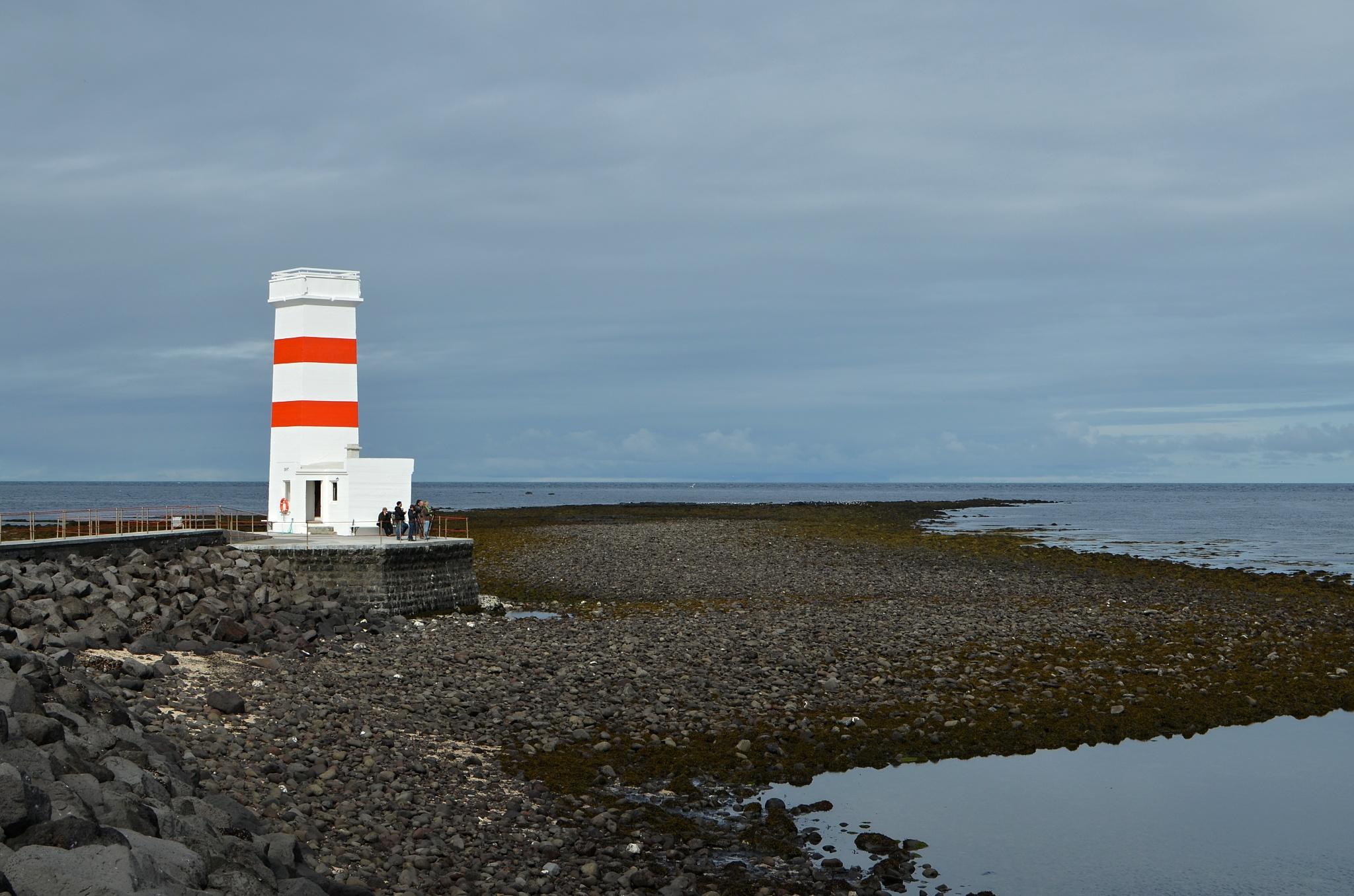 Starý maják na poloostrově Garðaskagi