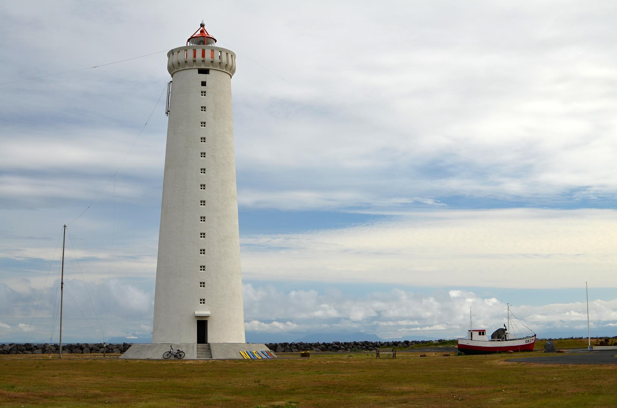 Nový maják na poloostrově Garðaskagi