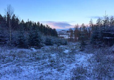 Občas se naskytl i povedený výhled na zimní krajinu.