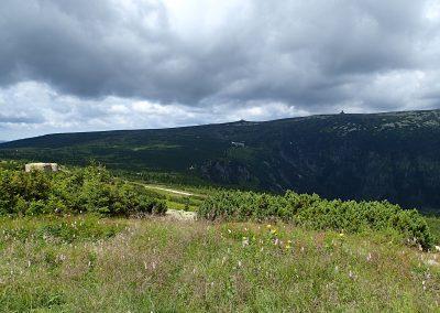 Panorama s řopíkem a Labskou Boudou v pozadí