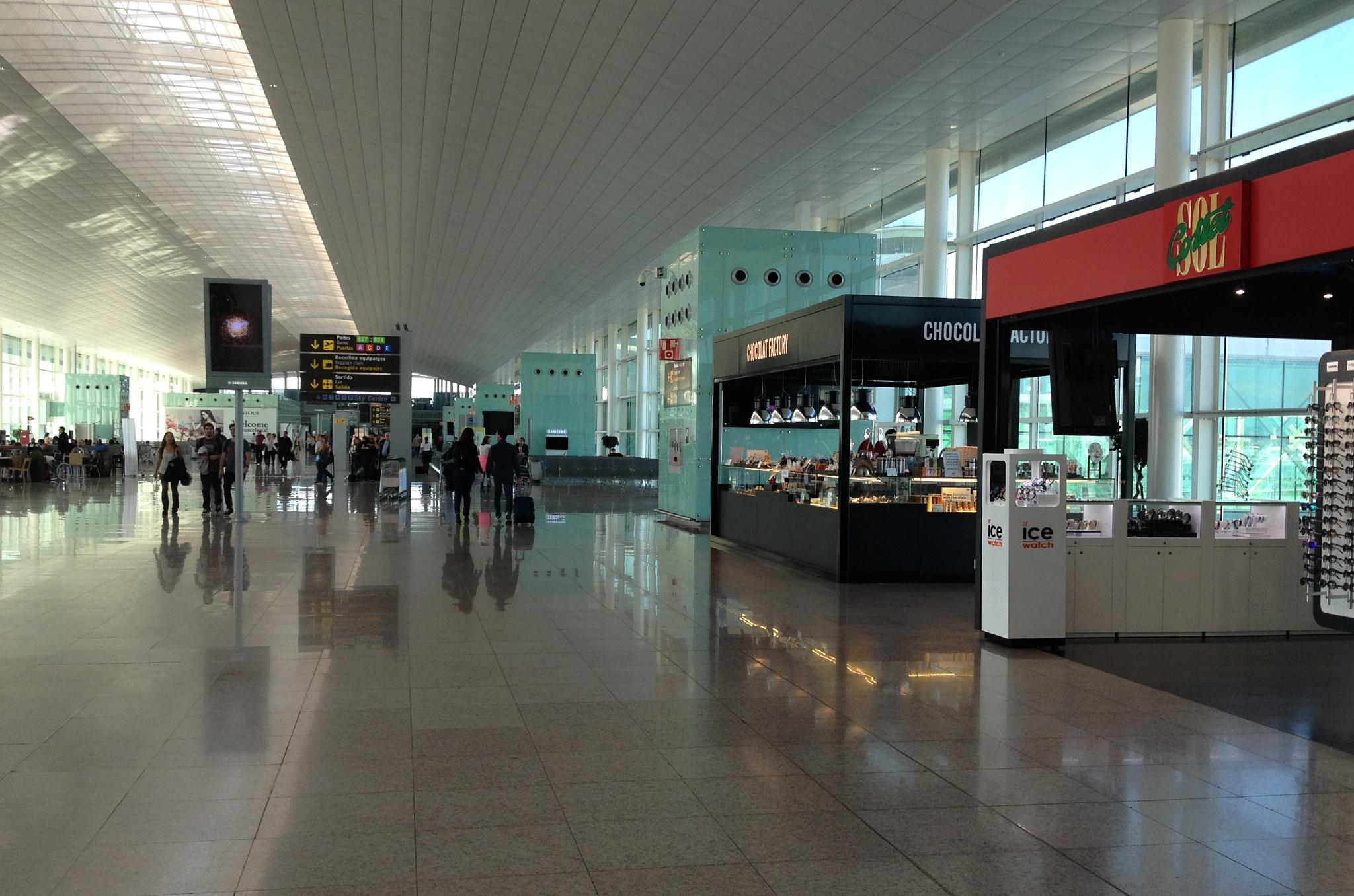 Na letišti El Prat v Barceloně