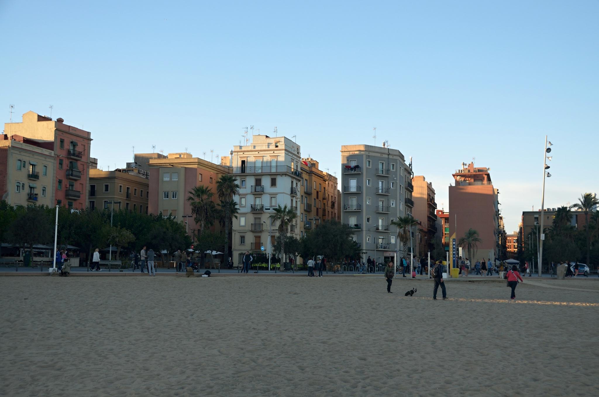 Bytové domy u pobřeží
