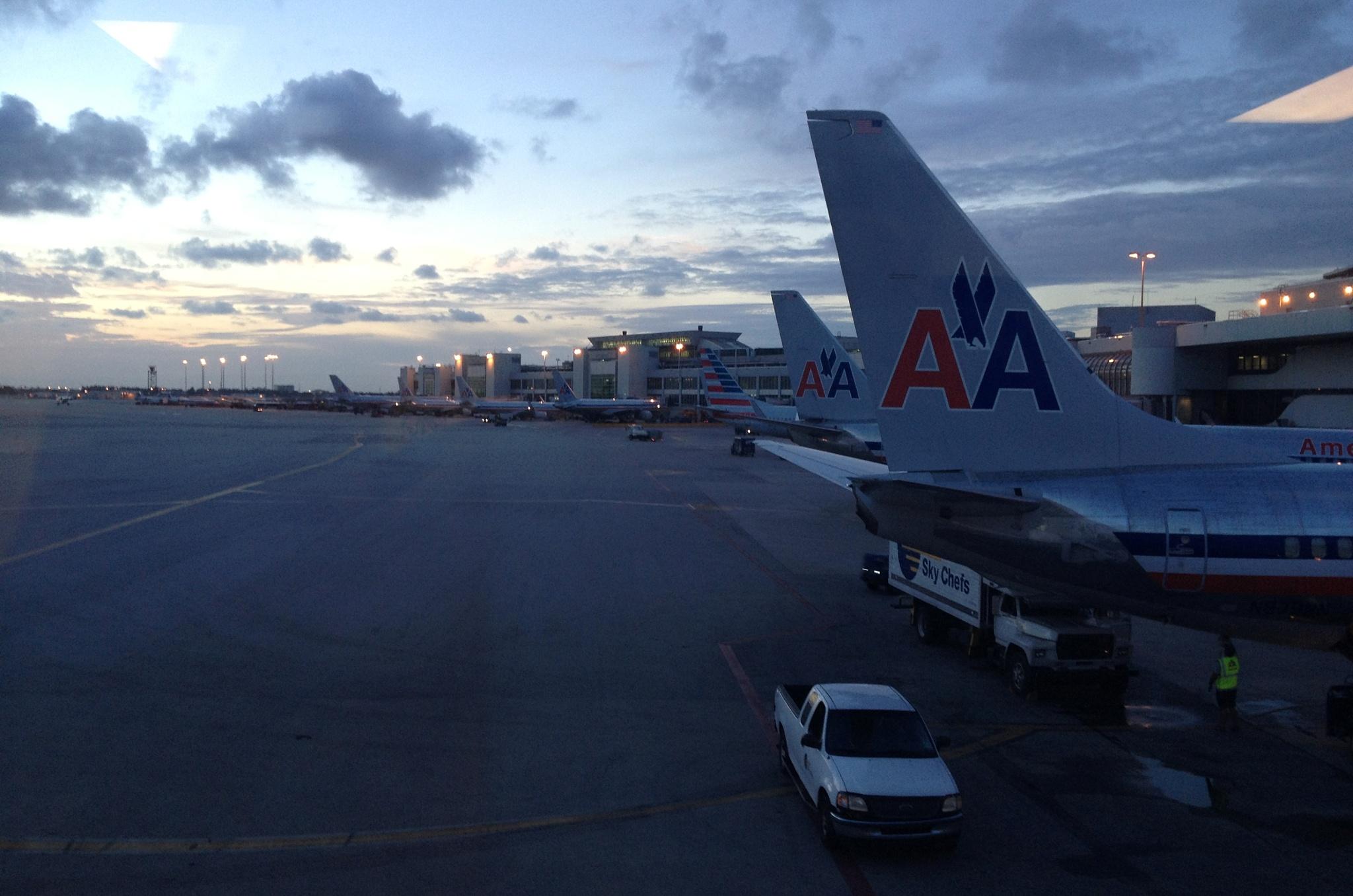 Na letišti v Miami