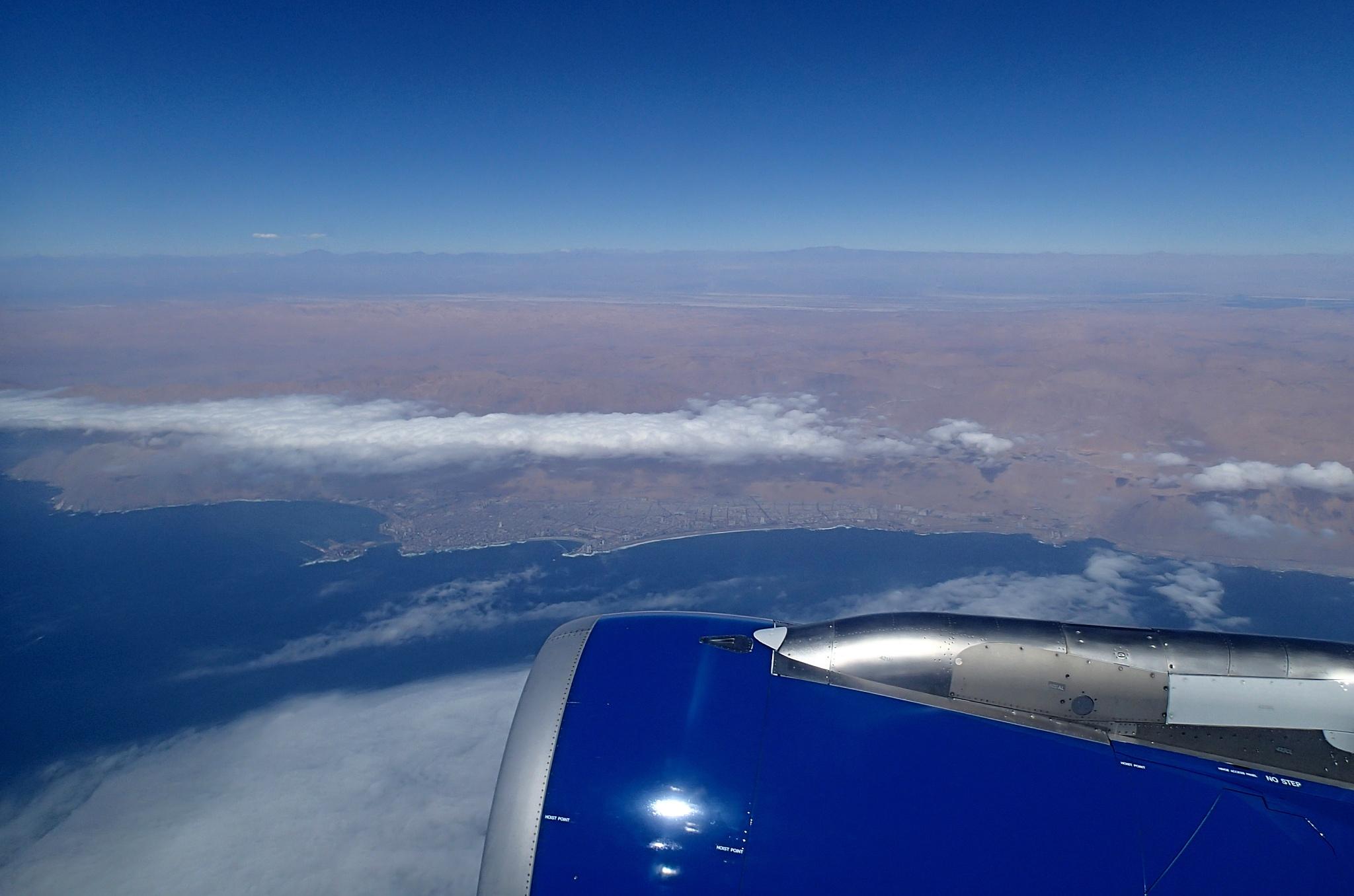 Letíme na sever do Ariky