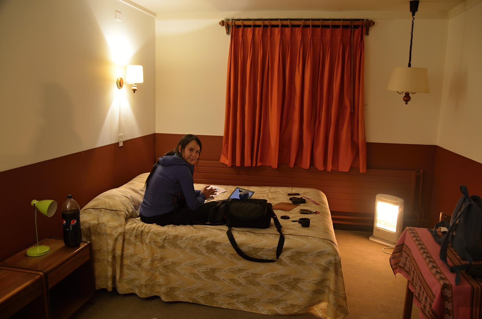 Hotel Las Vicuñas, konečně pod střechou!