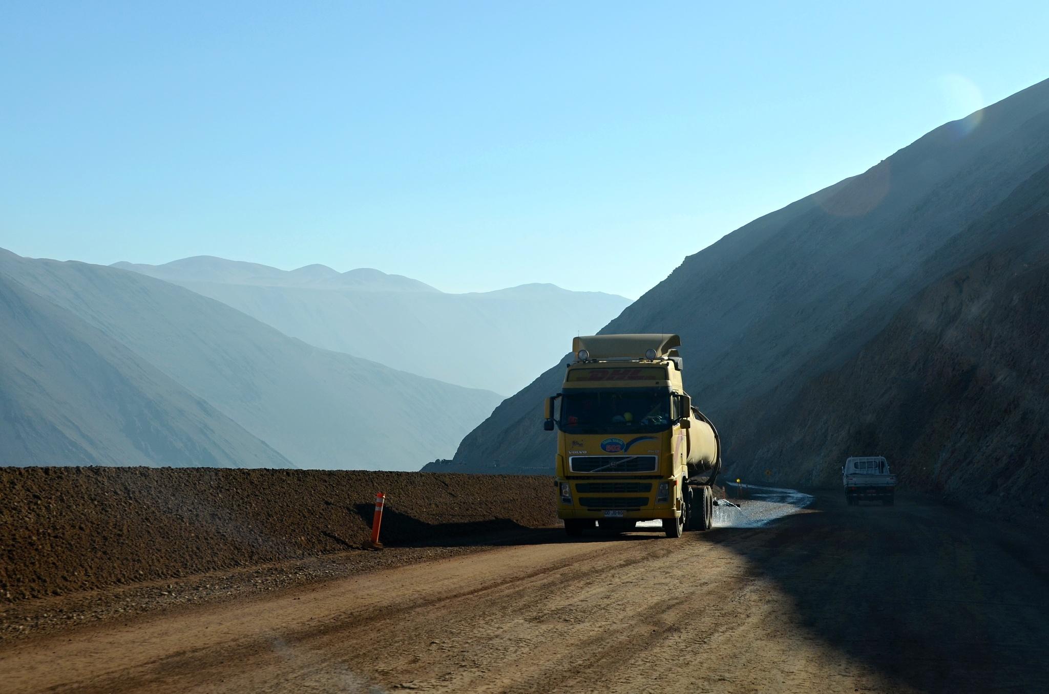 Rekonstrukce silnice v Chile