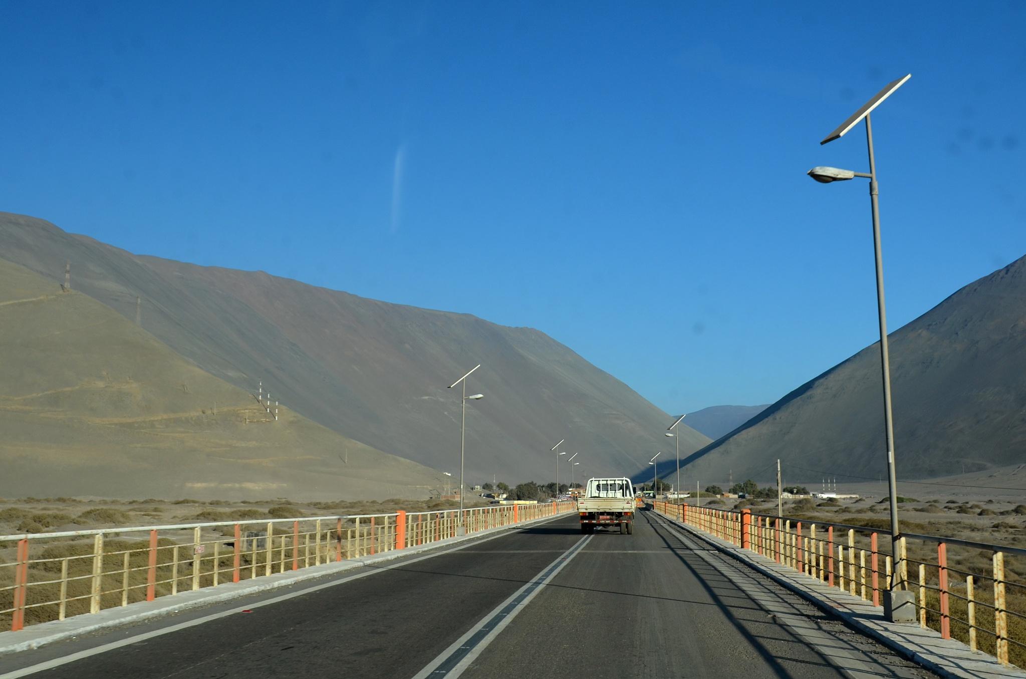 Překračujeme hranici kraje do Tarapaky