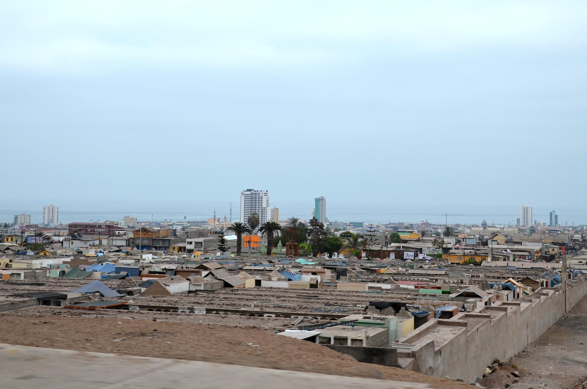 Pohled na Iquique z výšky