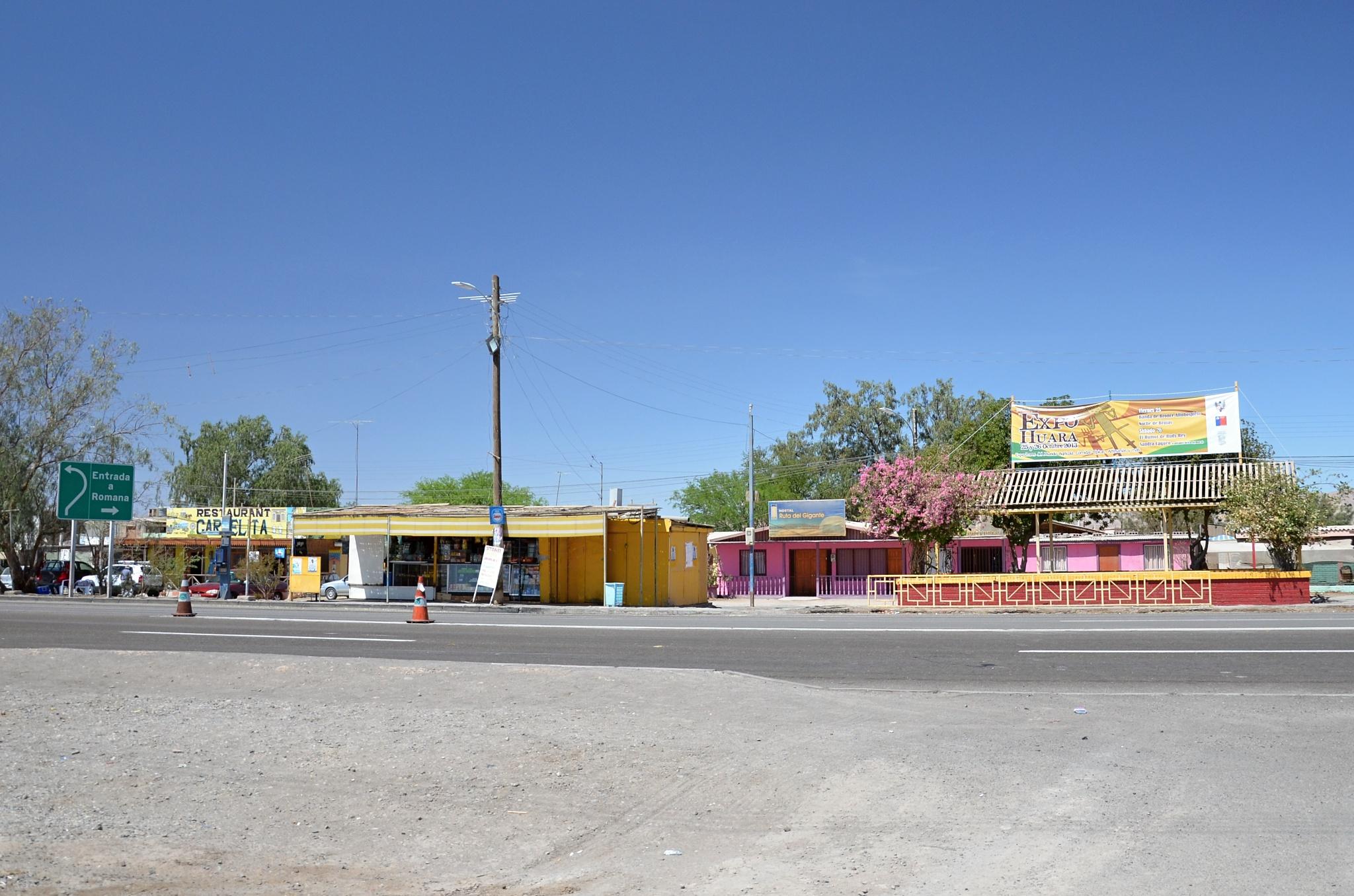 Občerstvení ve vesnici Huara